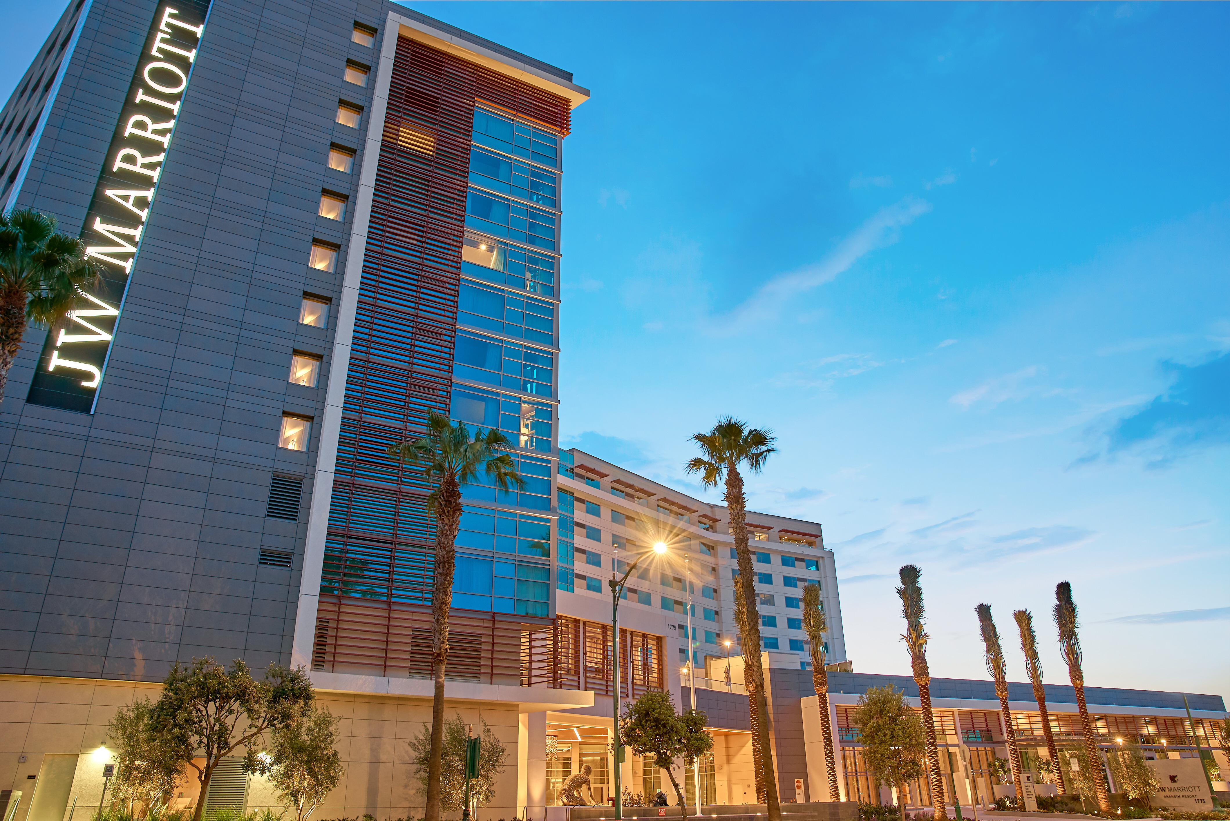 JW Marriott Anaheim Resort Hotel View. Photography, film and 3D by: Lions And Legacy