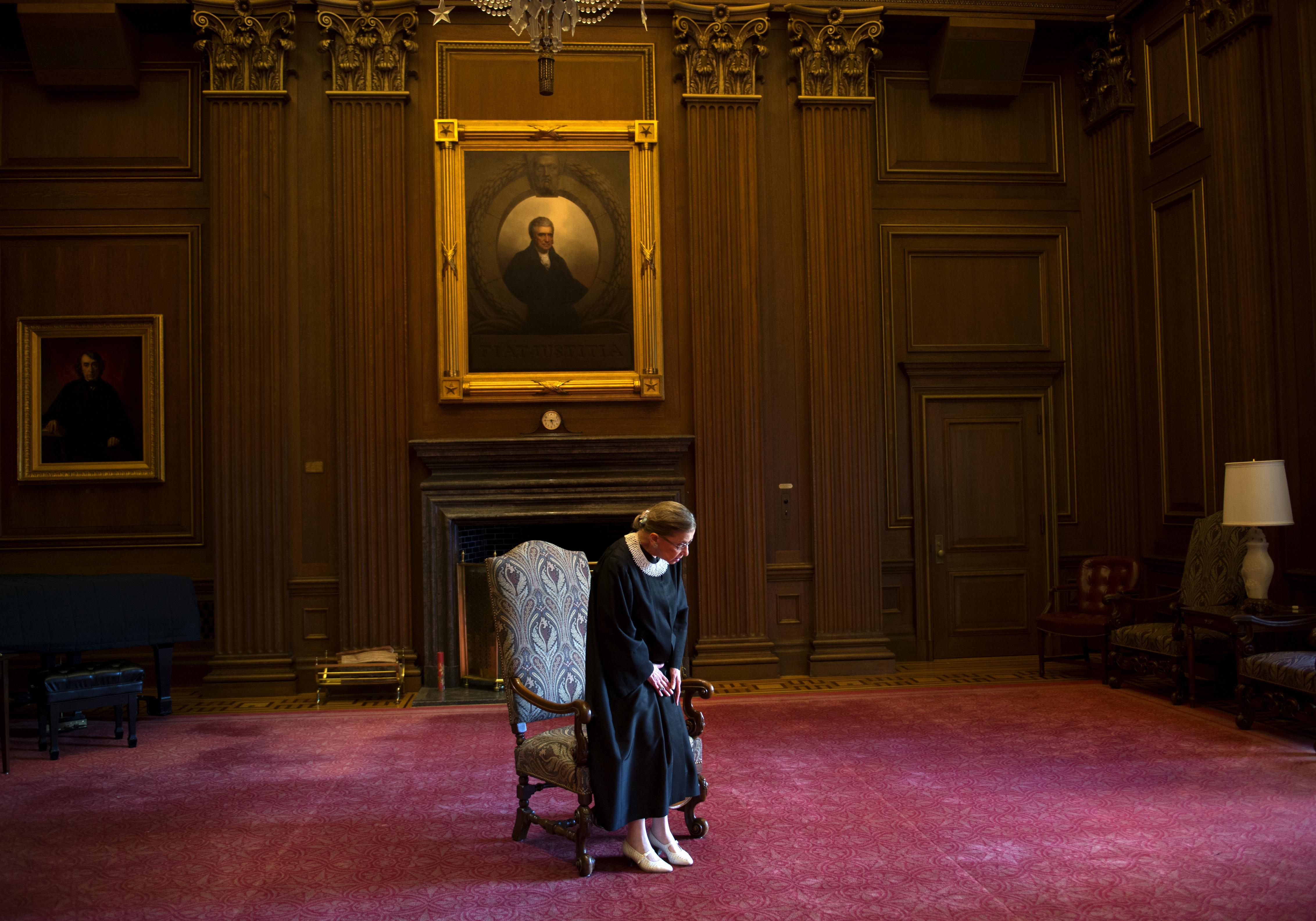 Supreme Court Justice Ruth Bader Ginsburg.