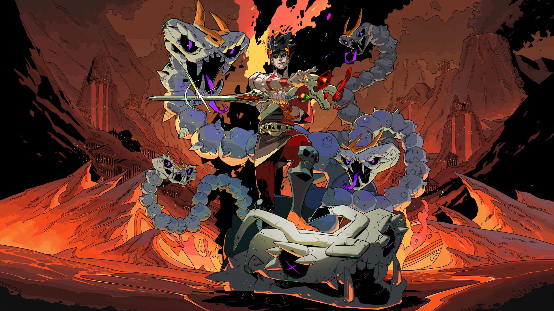 Zagreus slays the Bone Hydra in Hades