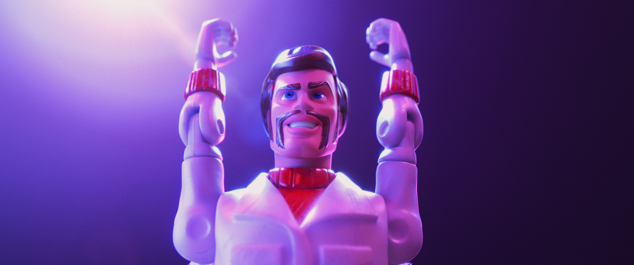 """Duke Caboom (Keanu Reeves) in a scene from """"Toy Story 4."""""""