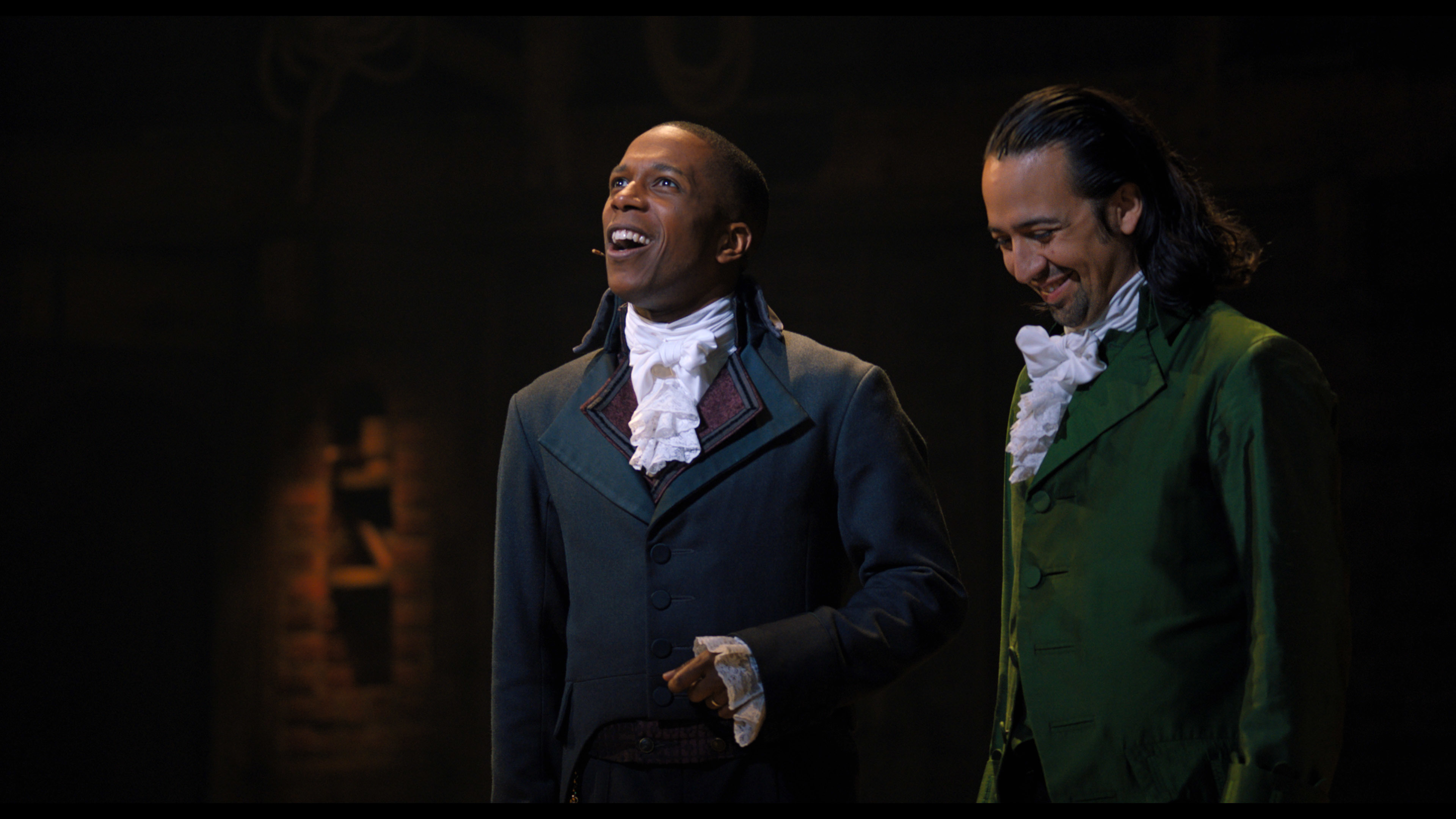 """Lin-Manuel Miranda is Alexander Hamilton and Leslie Odom, Jr., is Aaron Burr in """"Hamilton."""" """"Hamilton"""" is one of several productions making a return to Broadway in the fall."""