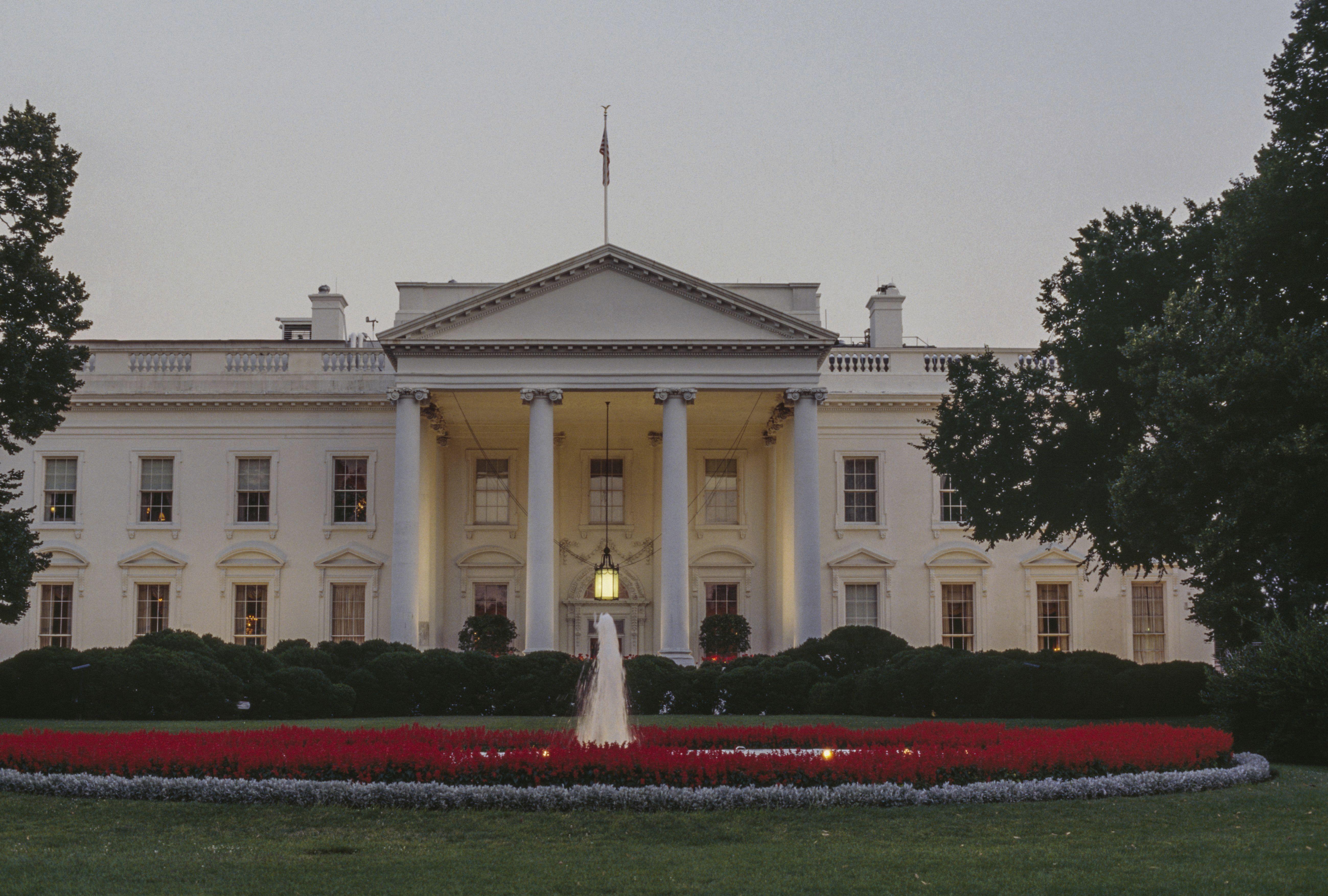 North Facade of White House, 1800, Washington DC