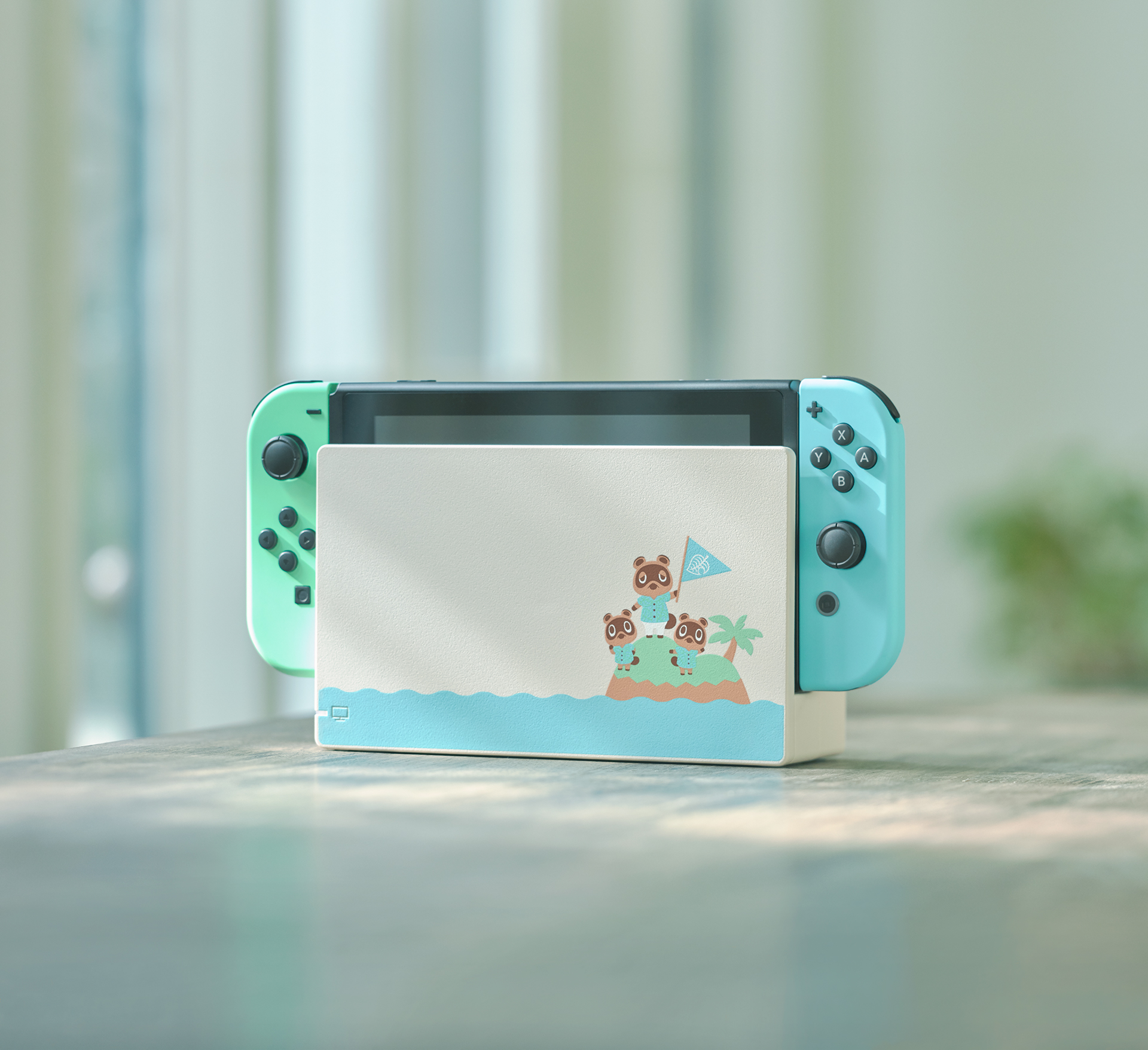 Photo of the Animal Crossing: New Horizons Nintendo Switch hardware in its dock