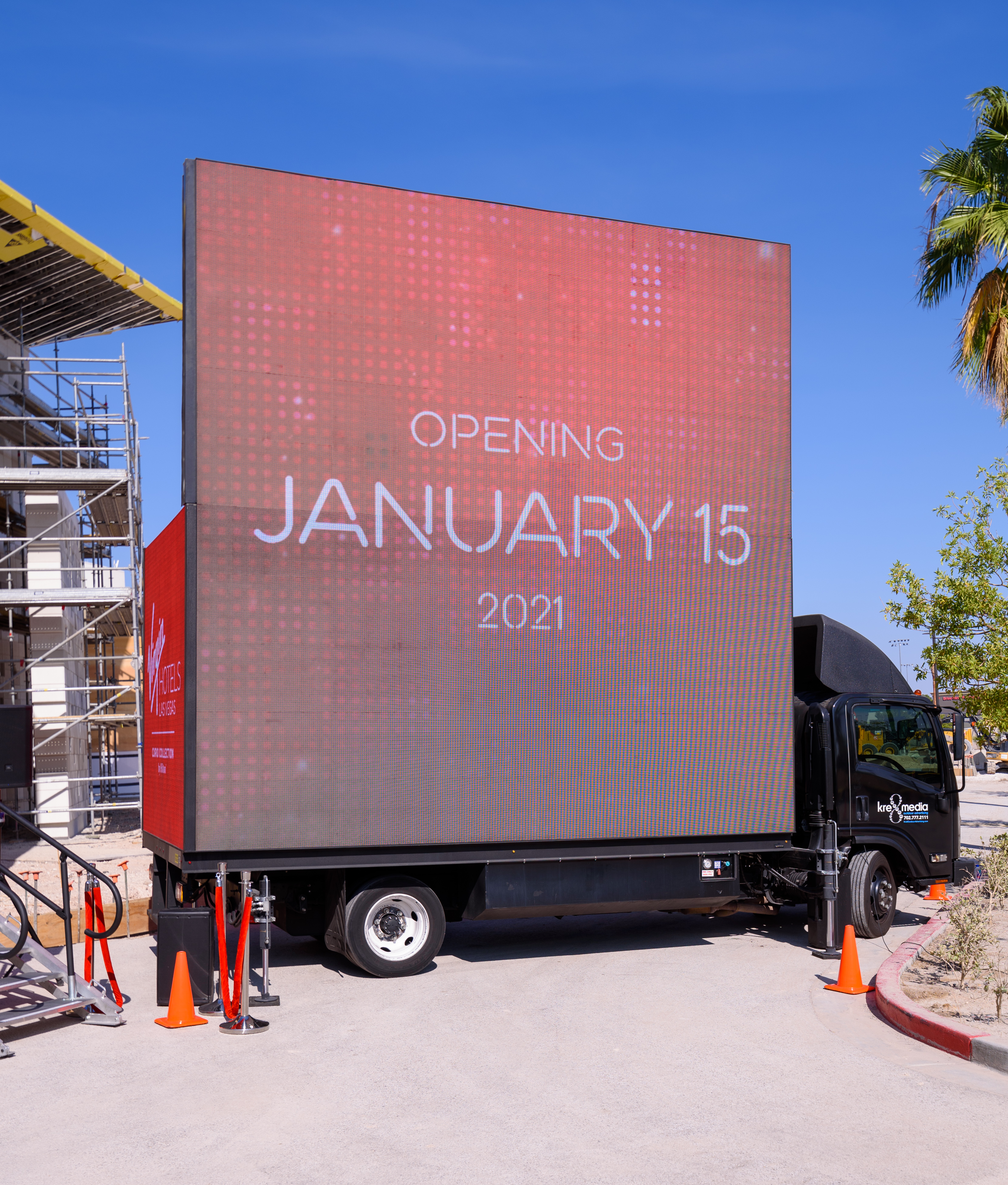 A billboard on a truck