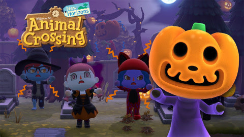 """The popular Nintendo video game """"Animal Crossing: New Horizons"""" has added some fall flavor to communities, which includes pumpkins, costumes and Halloween vibes."""