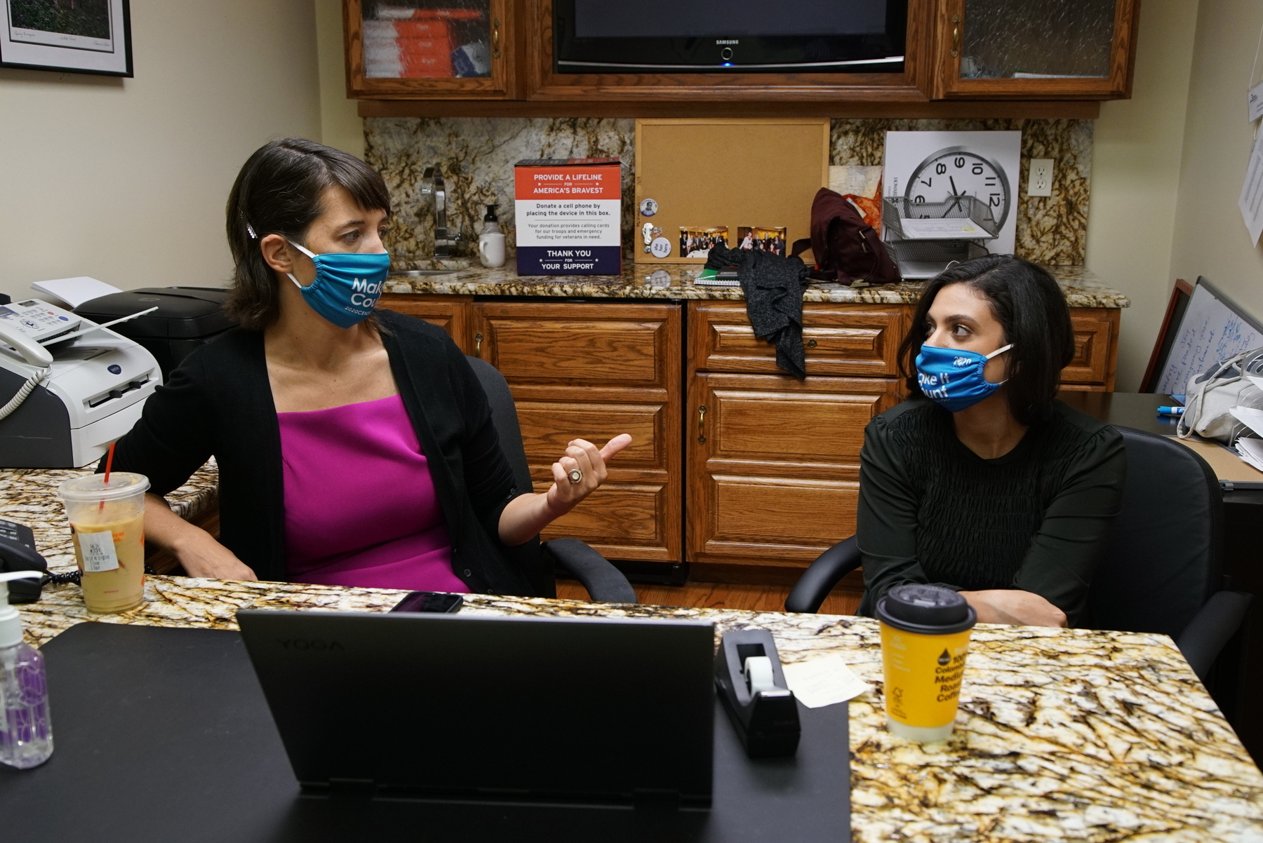 State Rep. Lindsey LaPointe (left) and her chief of staff, Jessica Genova, at her office at 6319 N. Milwaukee Ave.