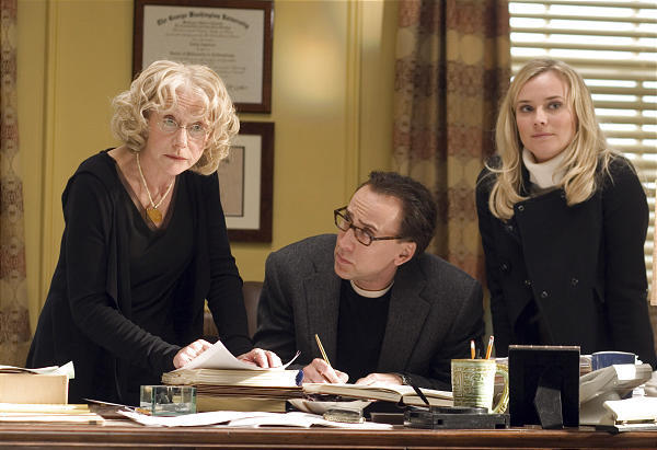 "Helen Mirren, left, Nicolas Cage and Diane Kruger star in ""National Treasure: Book Of Secrets."""