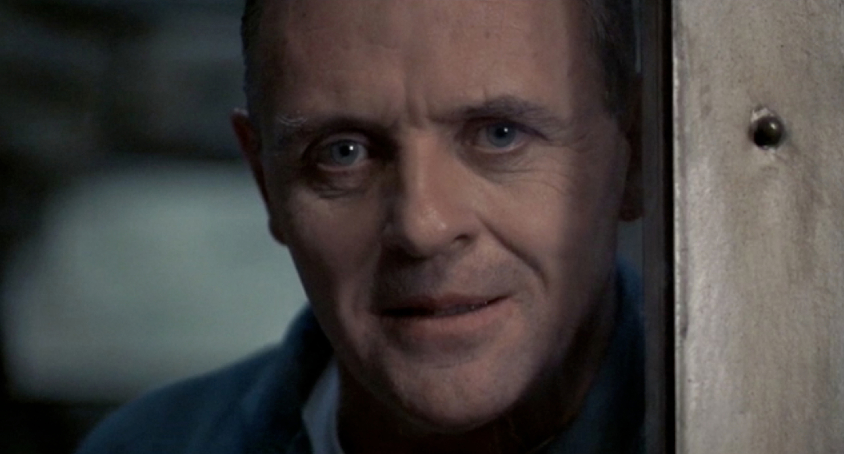 """Anthony Hopkins as """"Hannibal the cannibal"""" in The Silence of the Lambs."""