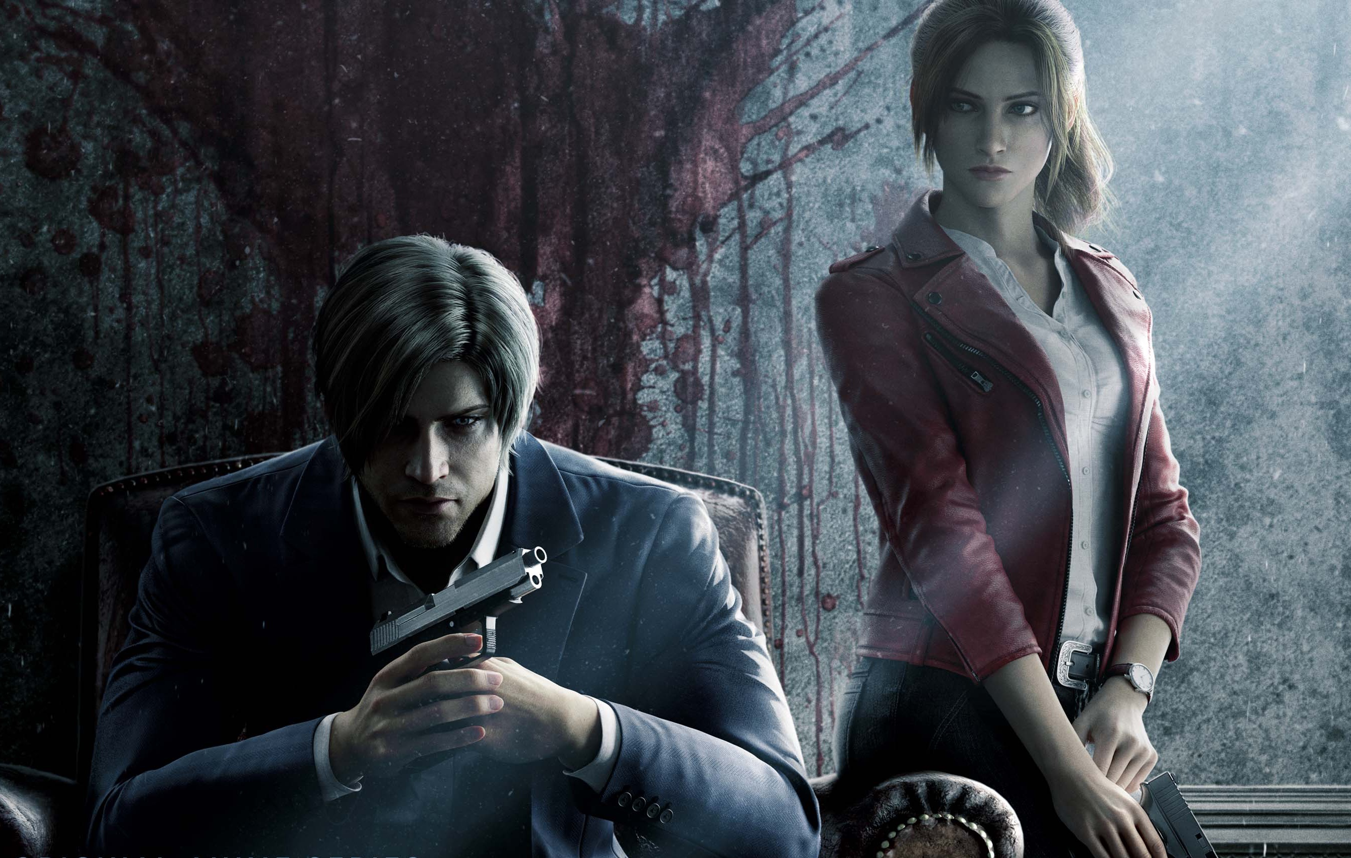 Artwork of Leon S. Kennedy and Claire Redfield from Resident Evil: Infinite Darkness