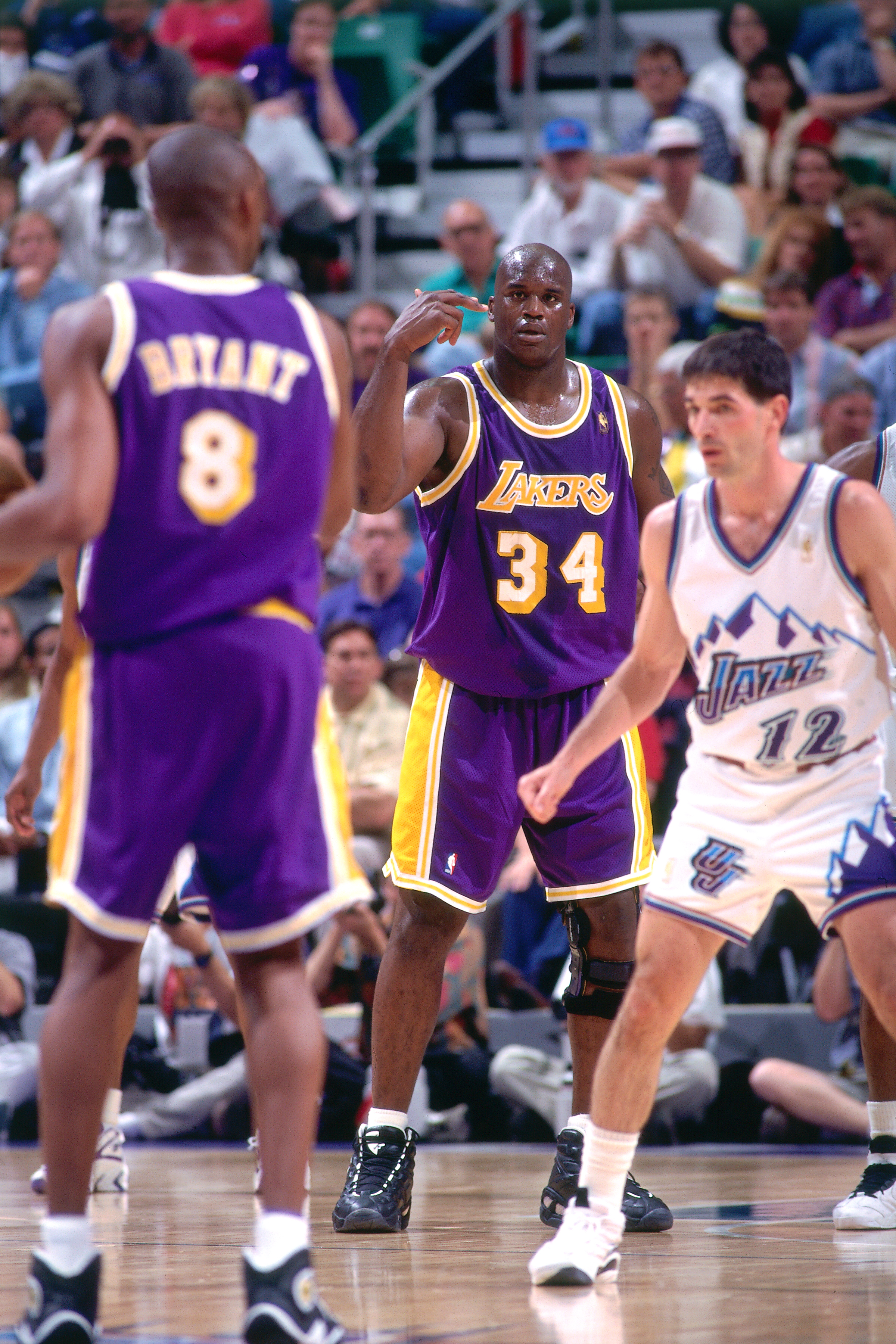 1997 NBA Playoffs - Round Two Game Two: Utah Jazz v Los Angeles Lakers
