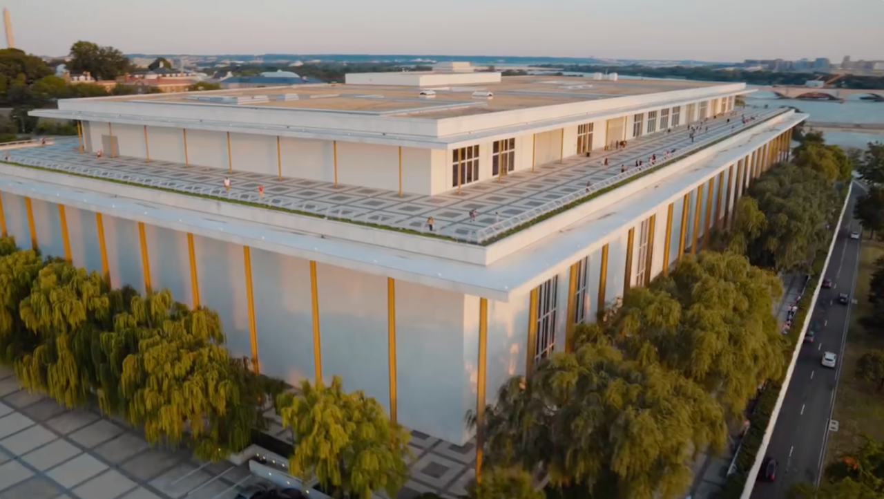 A rendering of the rooftop terrace at the Kennedy Center