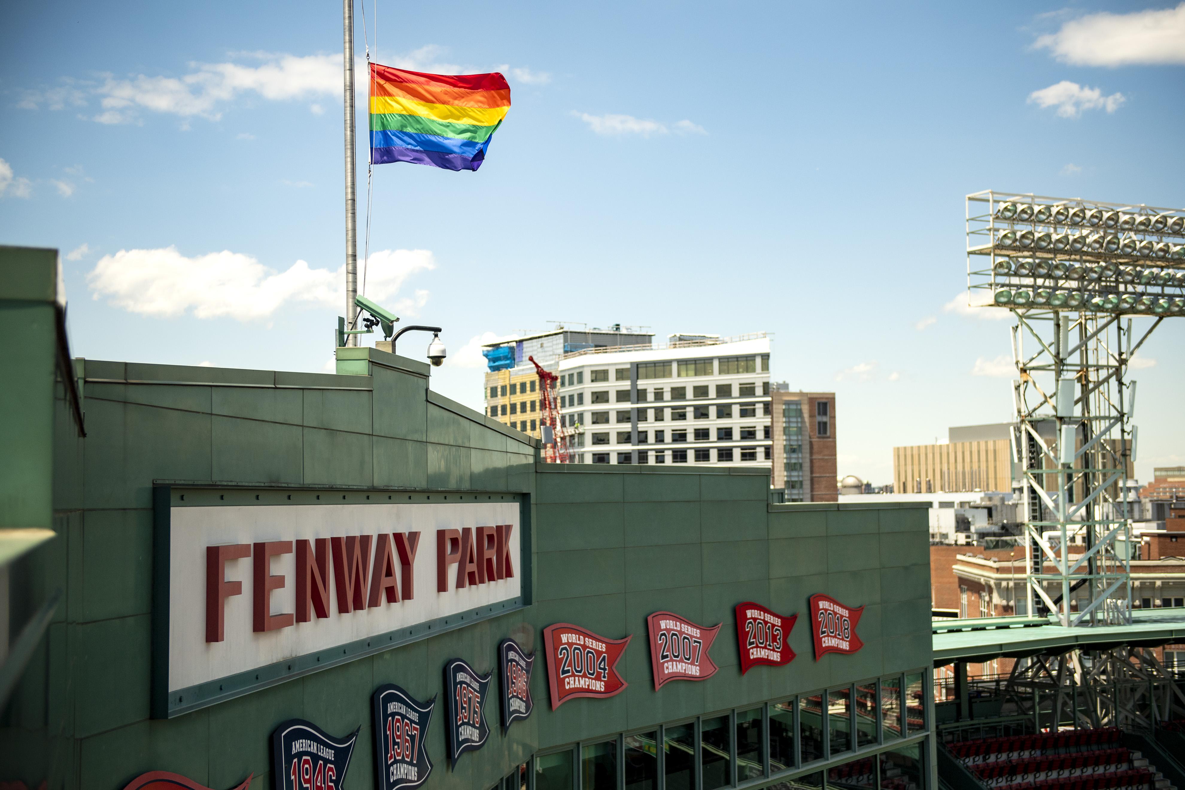Pride Flag At Fenway Park