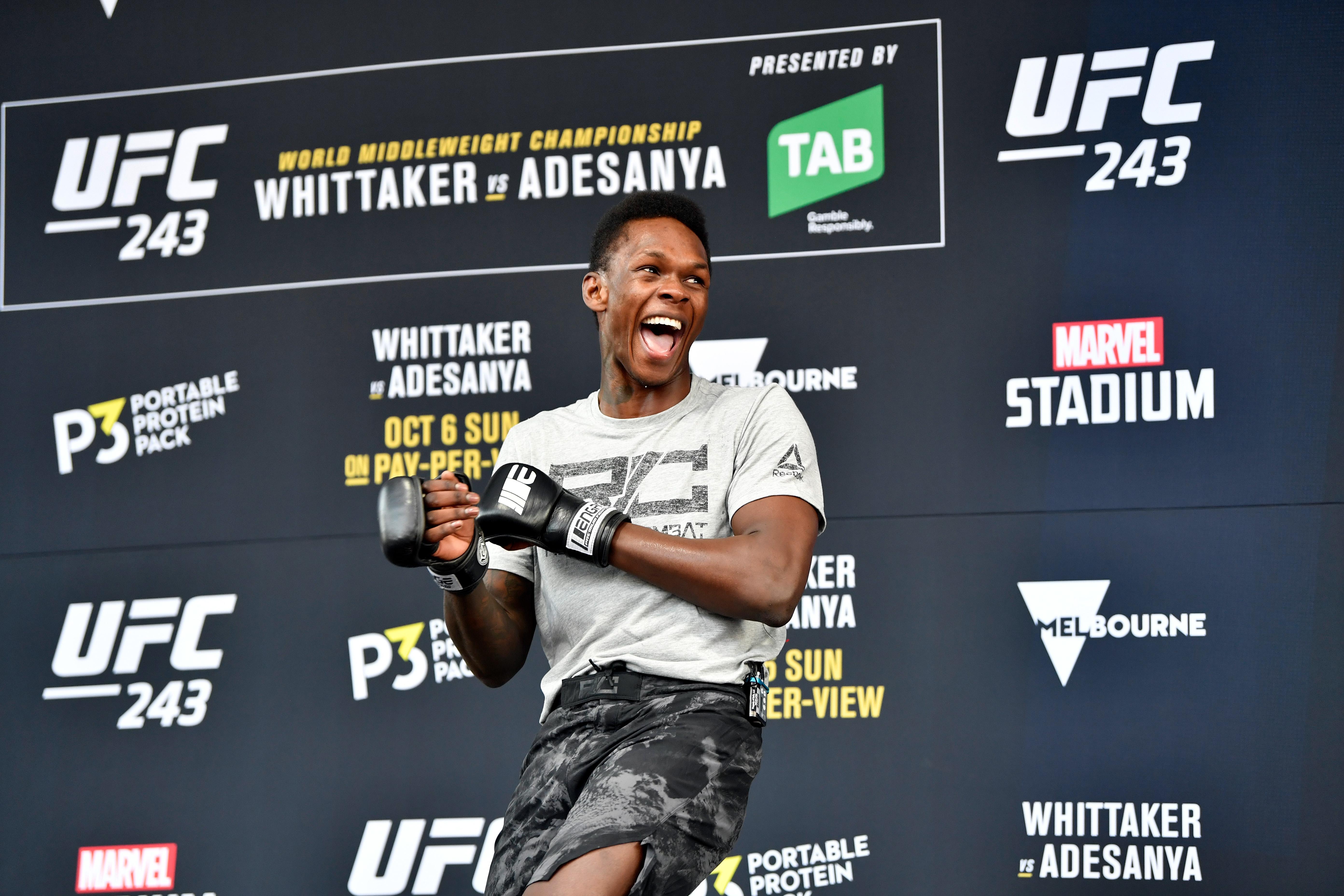 UFC 243 Whittaker v Adesanya: Open Workouts