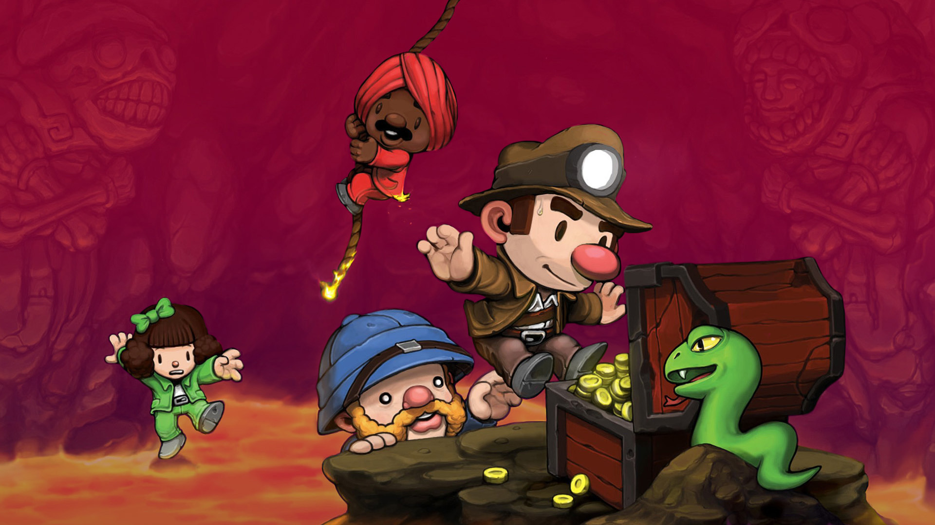 Spelunky art with Polygon filter