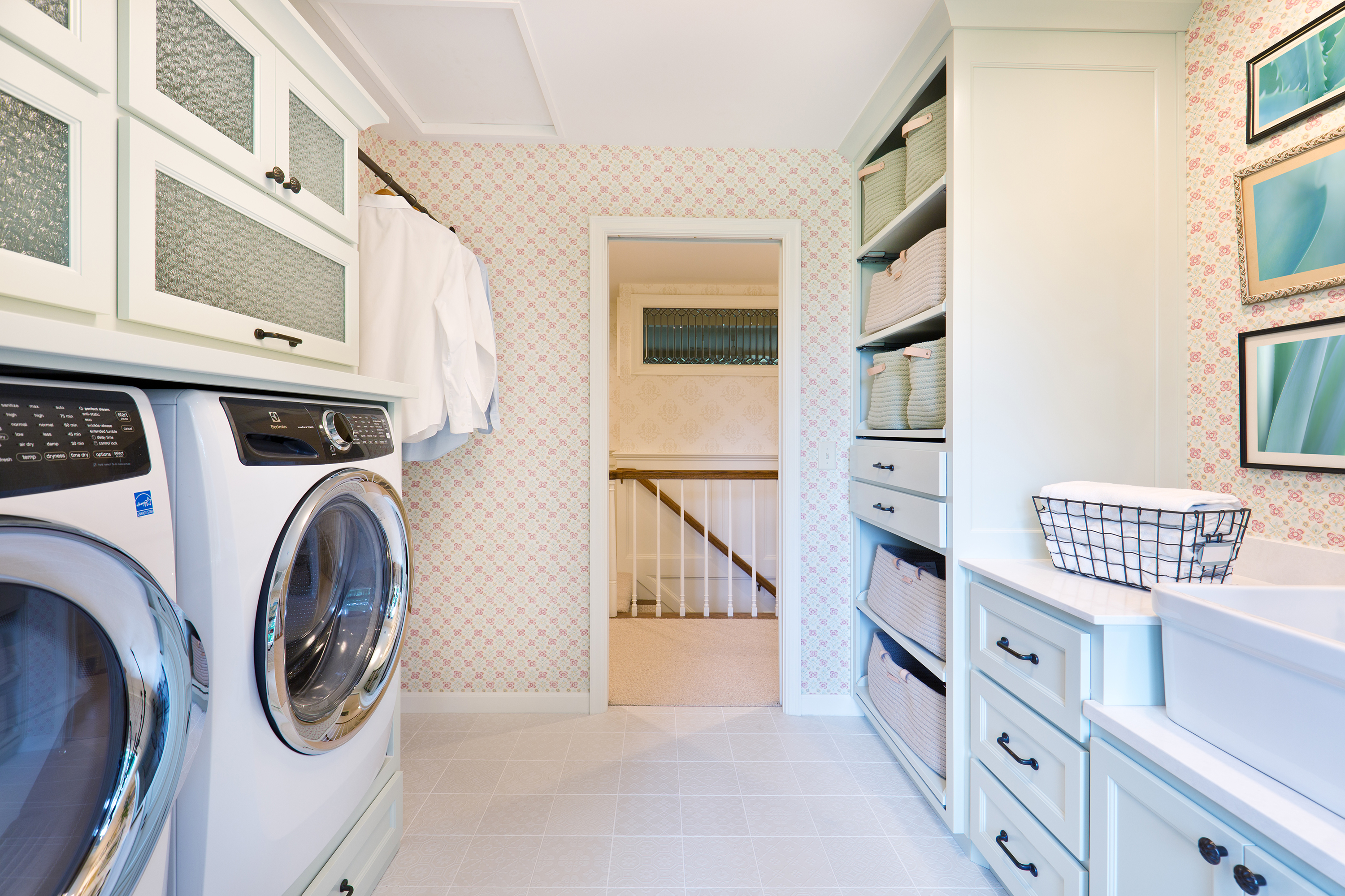 Laundry room in home.