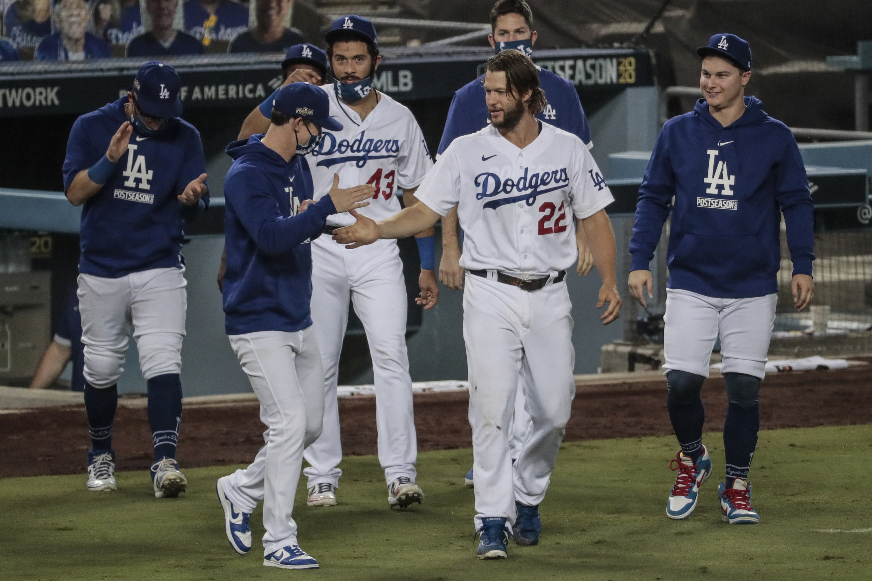 Dodgers and Brewers game one of wild card round