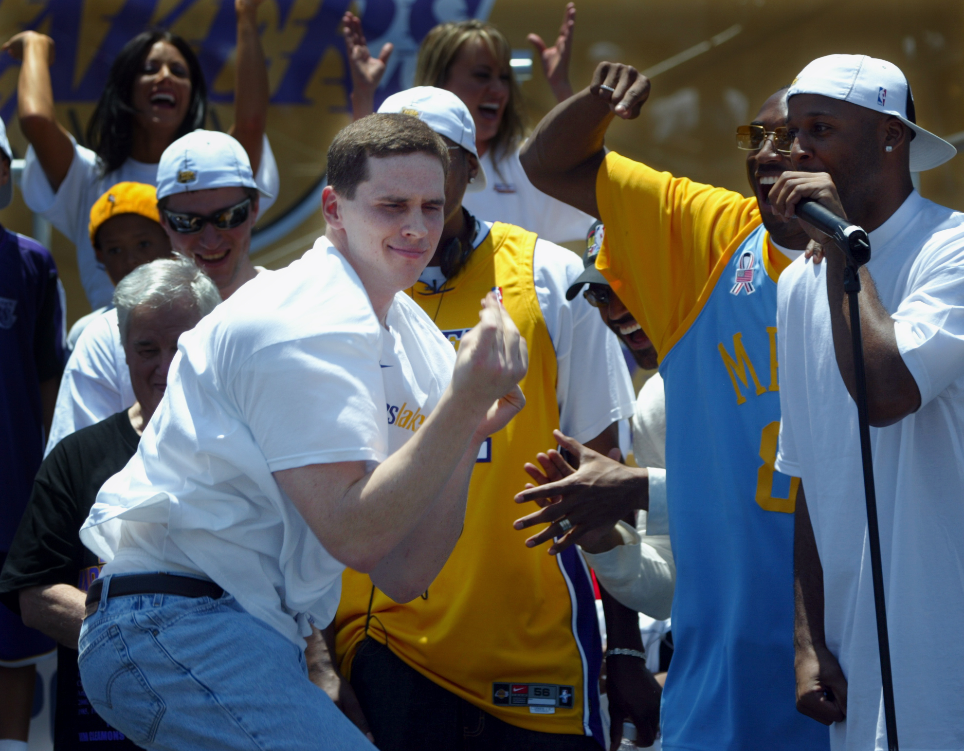 The Los Angeles Lakers celebrated their 3rd NBA Championship with a parade and celebration in downto