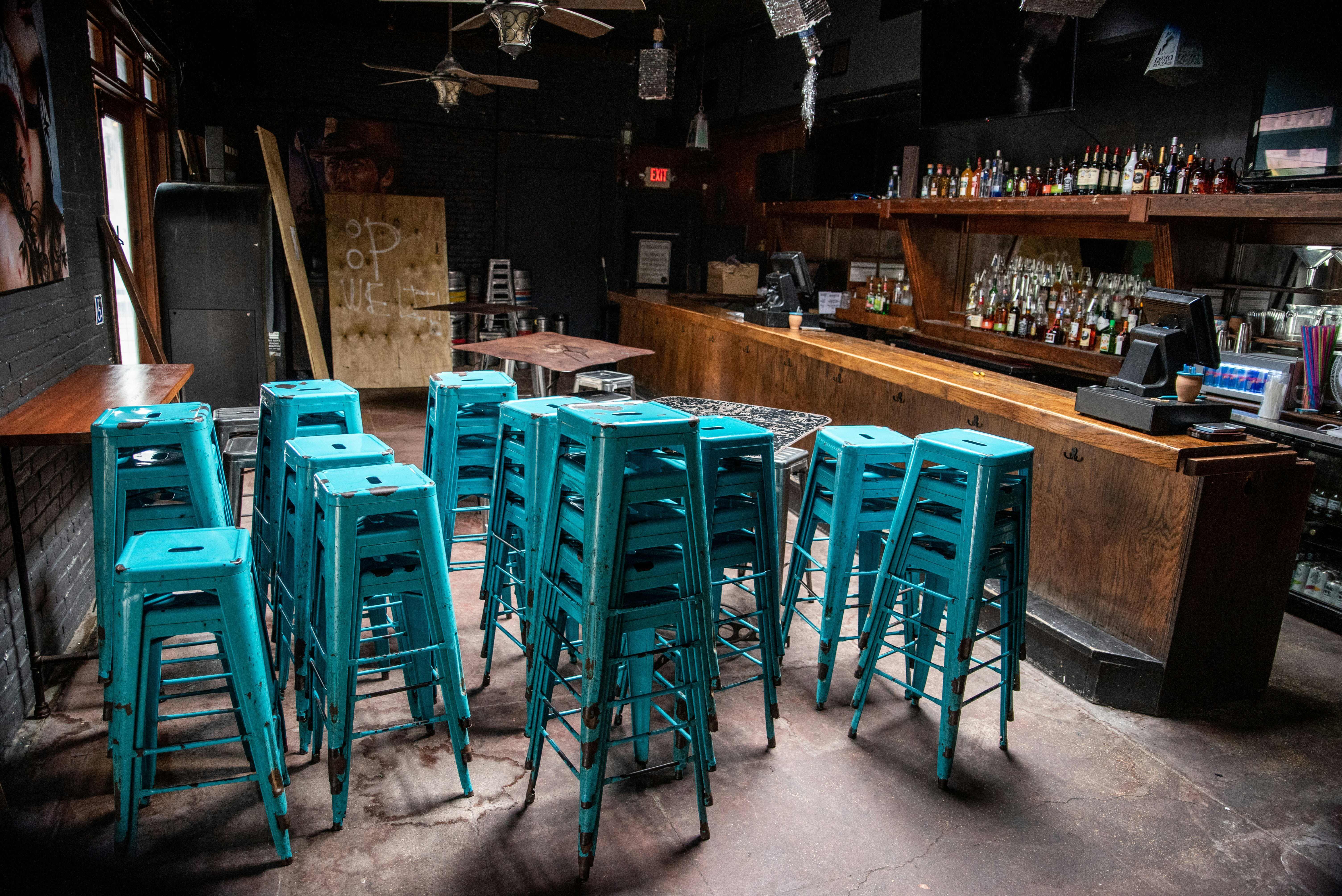 A closed bar in Austin