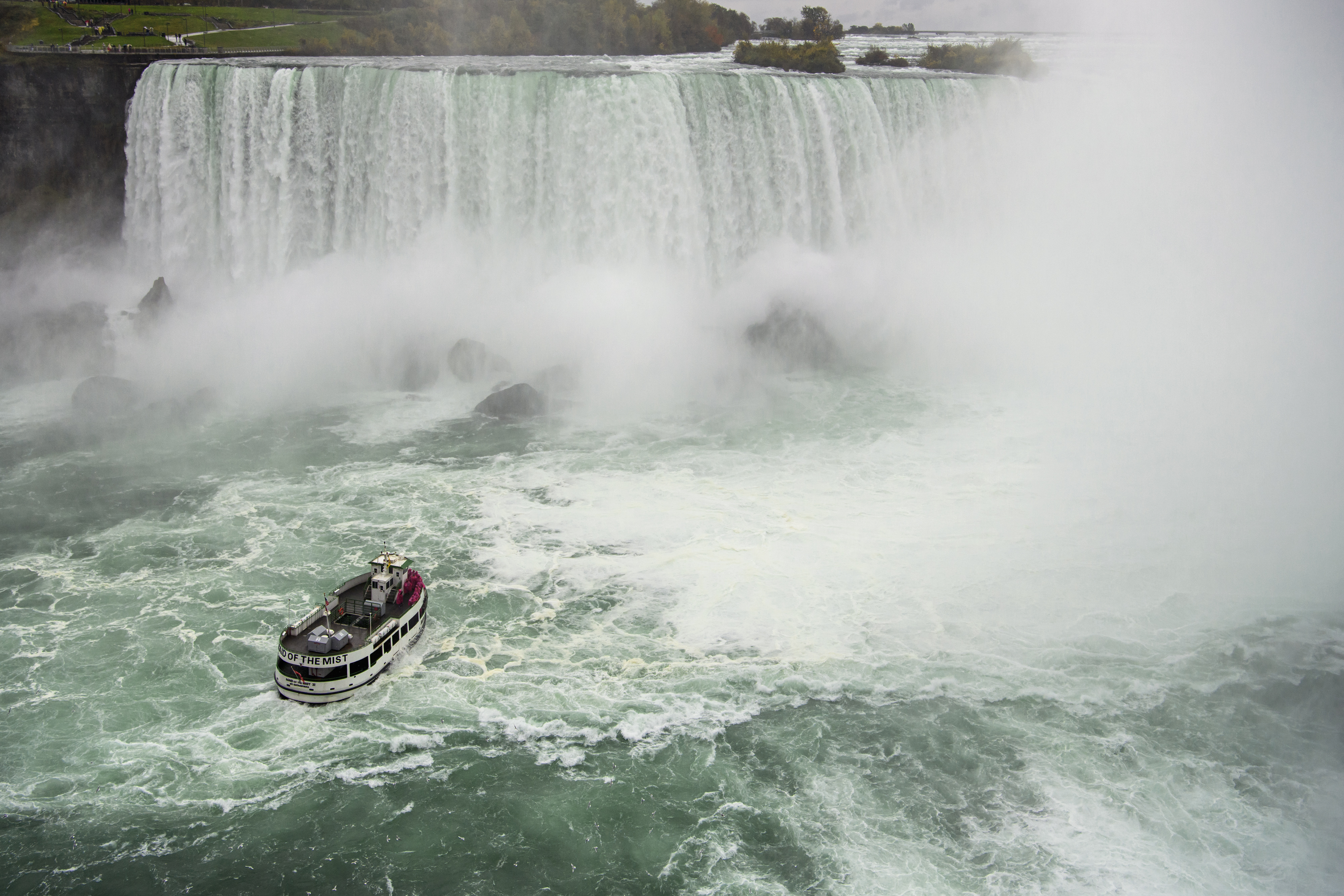 Previous Maid of the Mist boat tours at Niagara Falls ran on diesel.