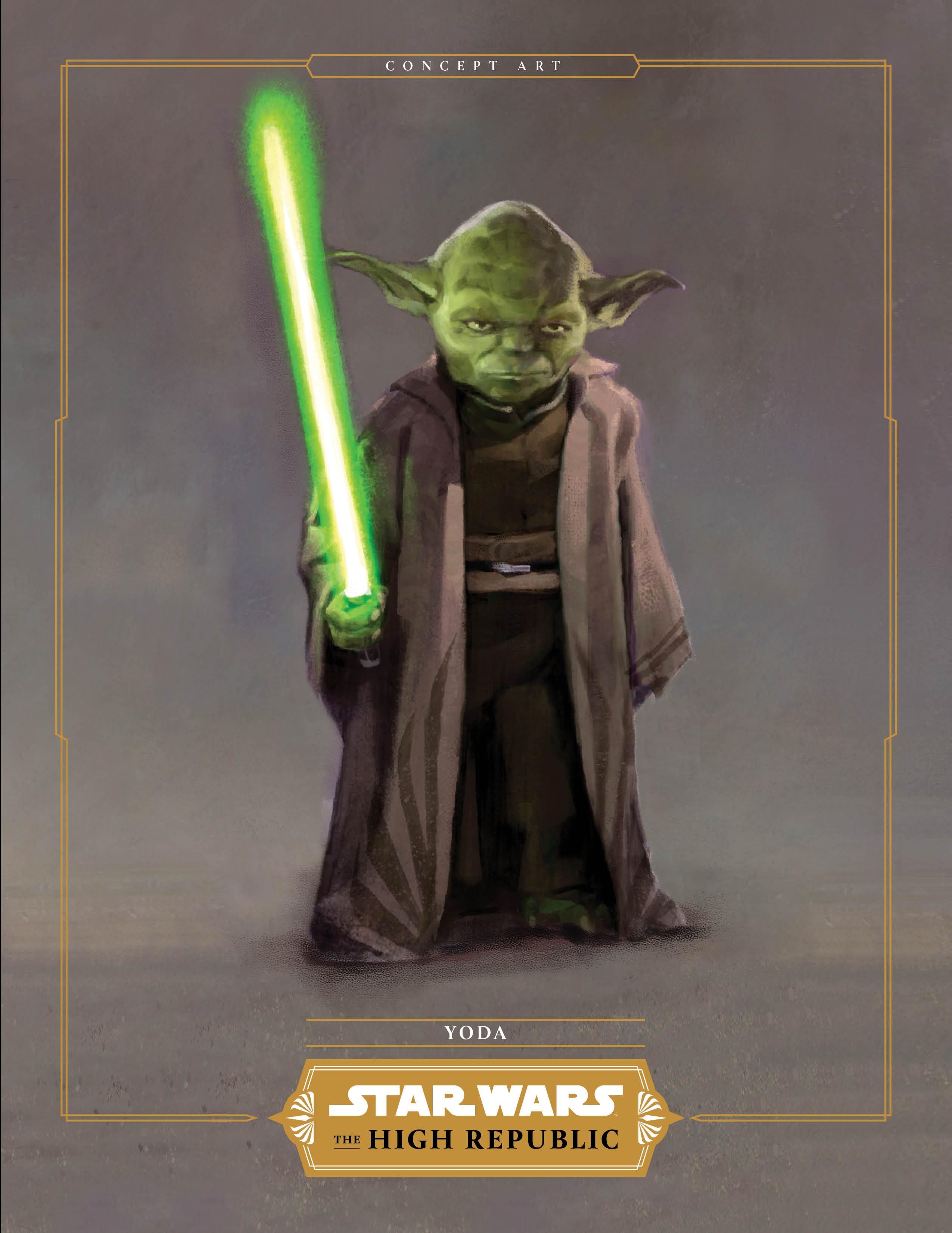 Yoda in the High REpublic concept art