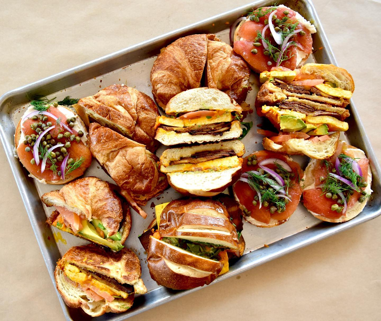 Vegan breakfast sandwiches from Rebel Cheese