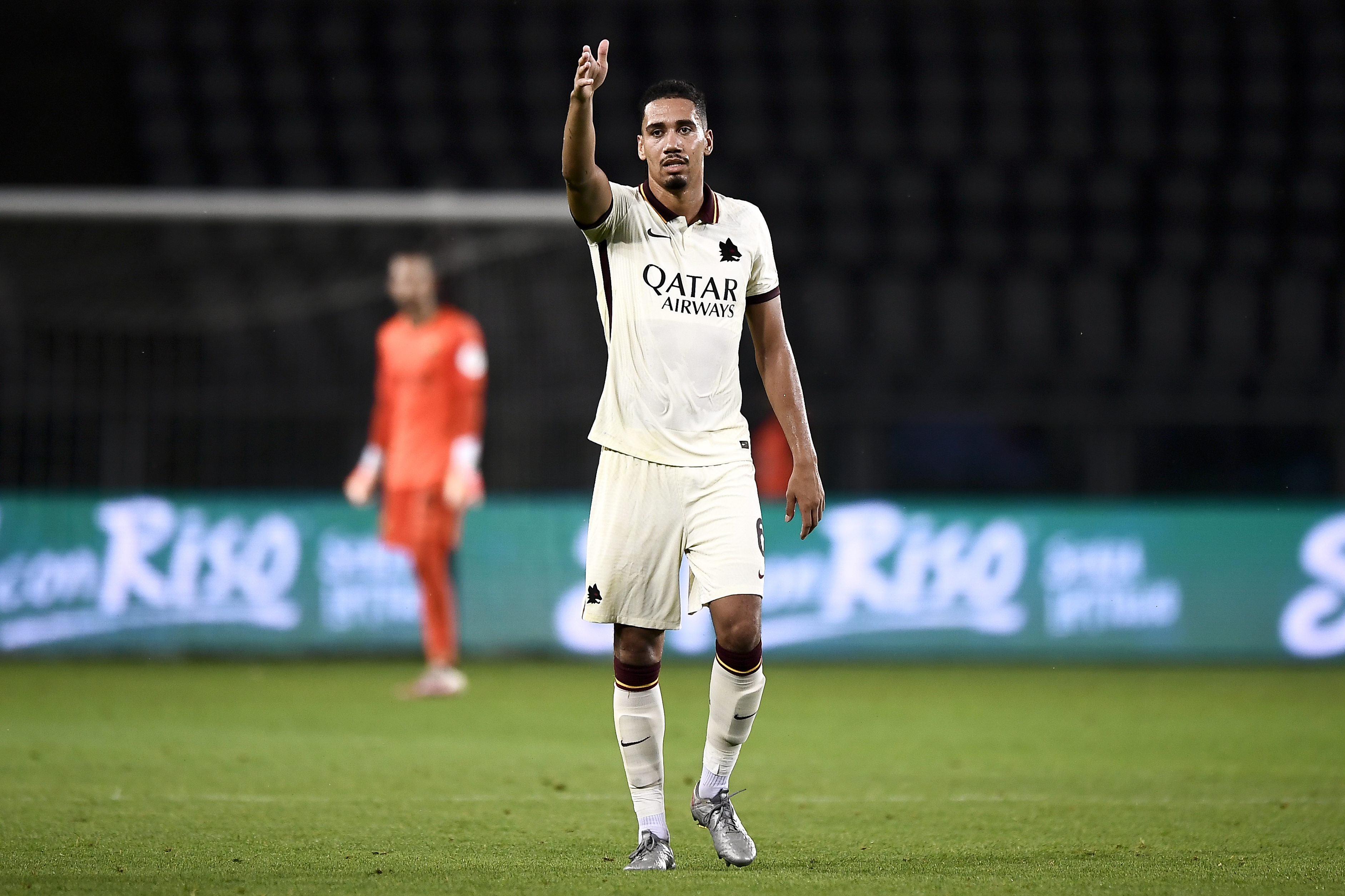 Chris Smalling of AS Roma gestures during the Serie A...