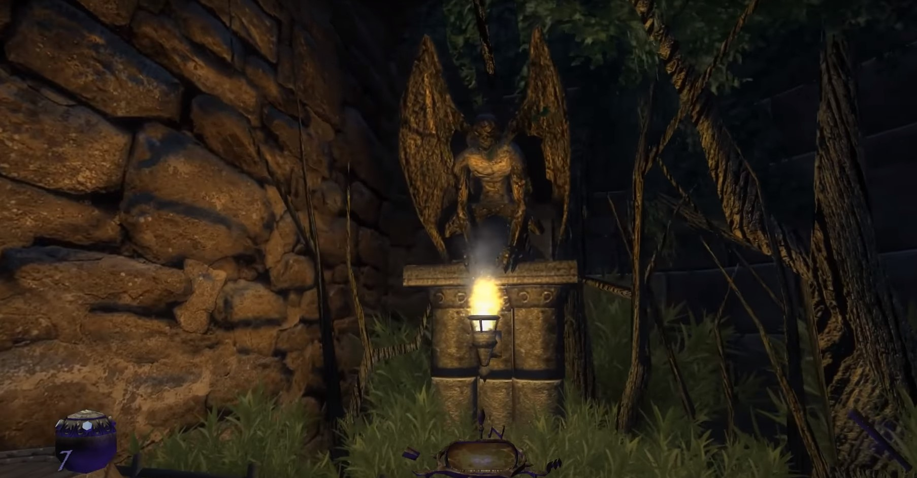 A gargoyle in Thief: Deadly Shadows