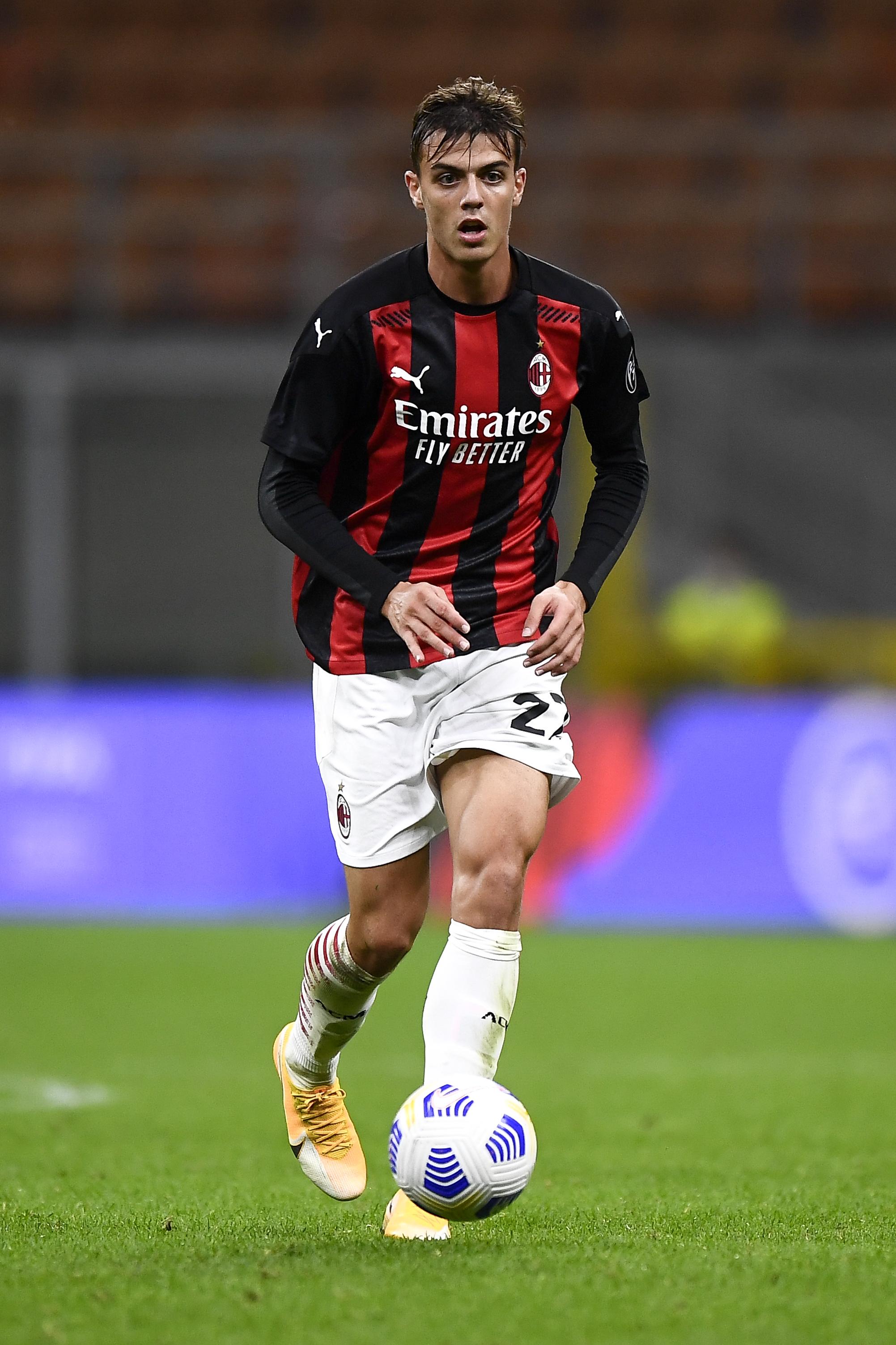 Daniel Maldini of AC Milan in action during the UEFA Europa...