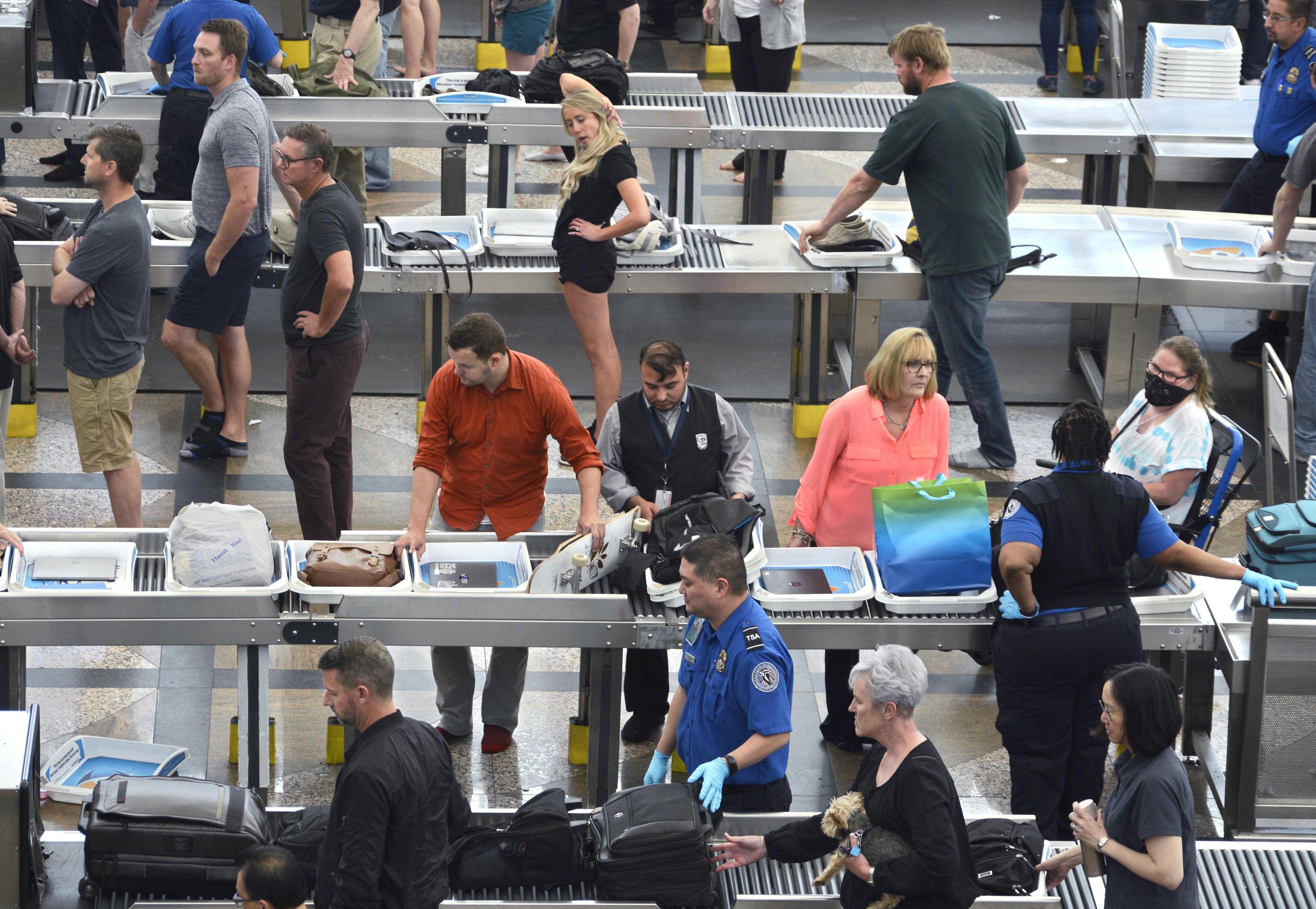 Denver International Airport scenes