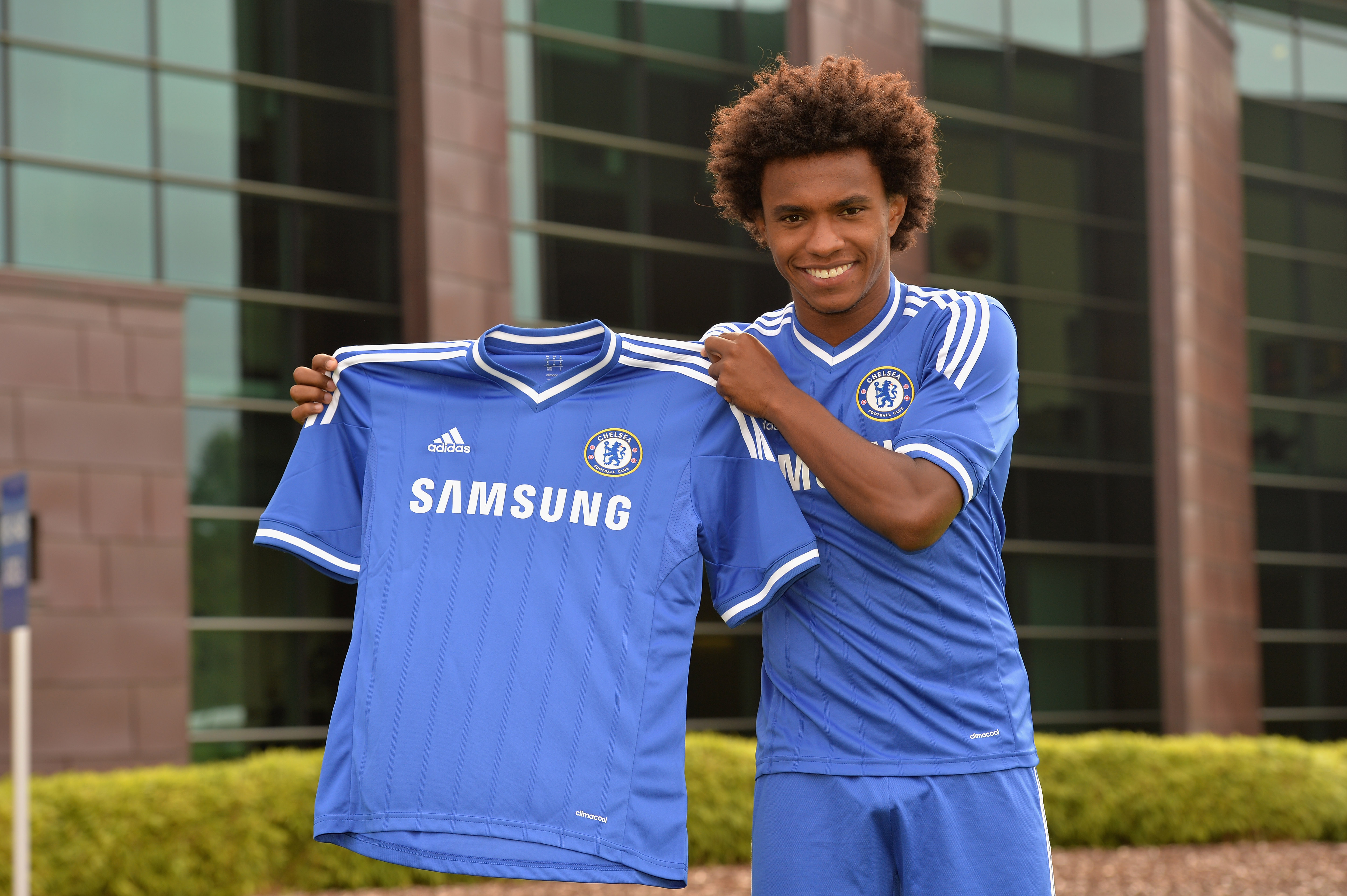 Soccer - Barclays Premier League - Chelsea's New Signing Willian - Cobham Training Ground