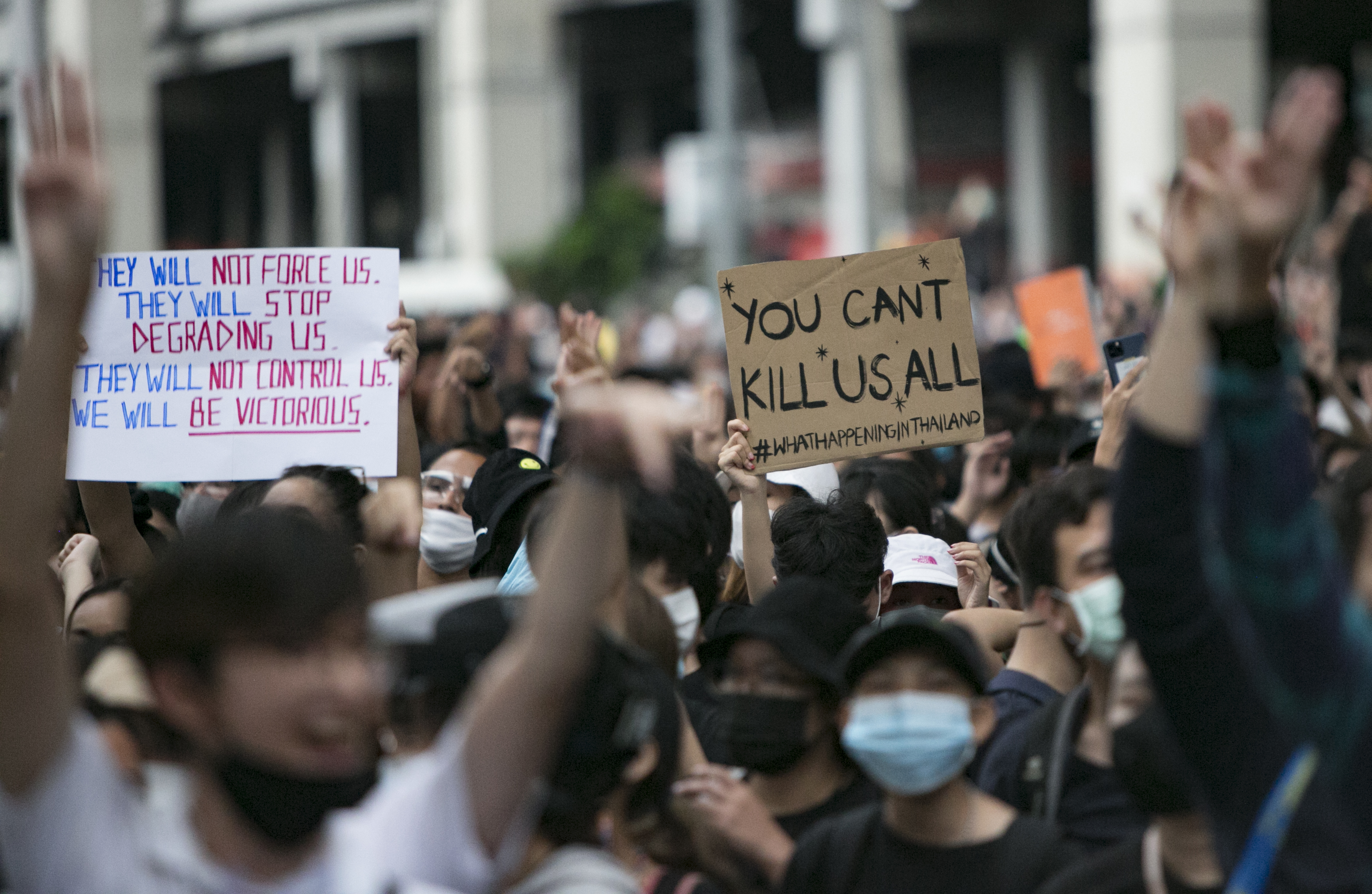 Pro-Democracy Protests Continue In Bangkok Despite Government Ban On Gatherings