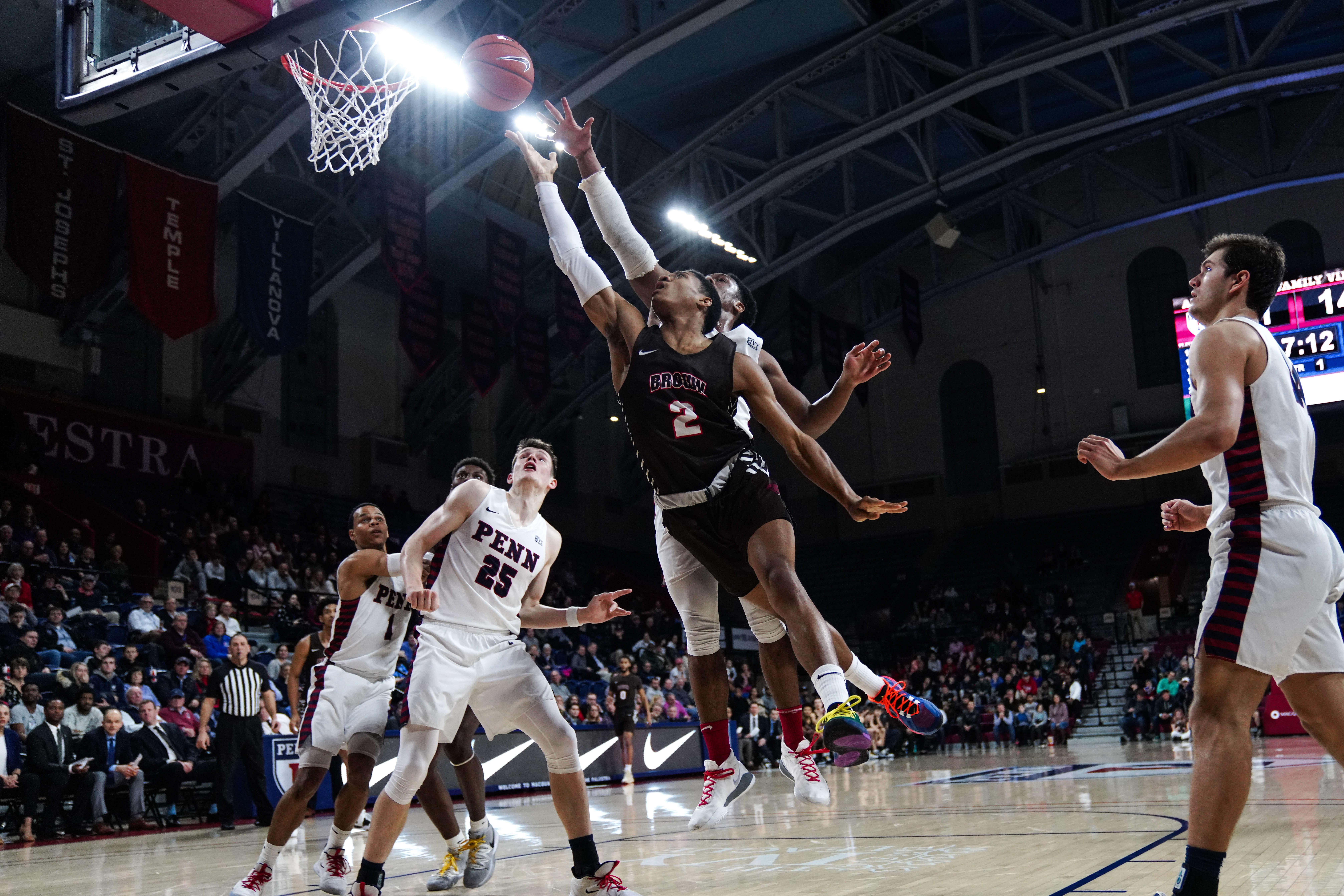 COLLEGE BASKETBALL: FEB 14 Brown at Penn