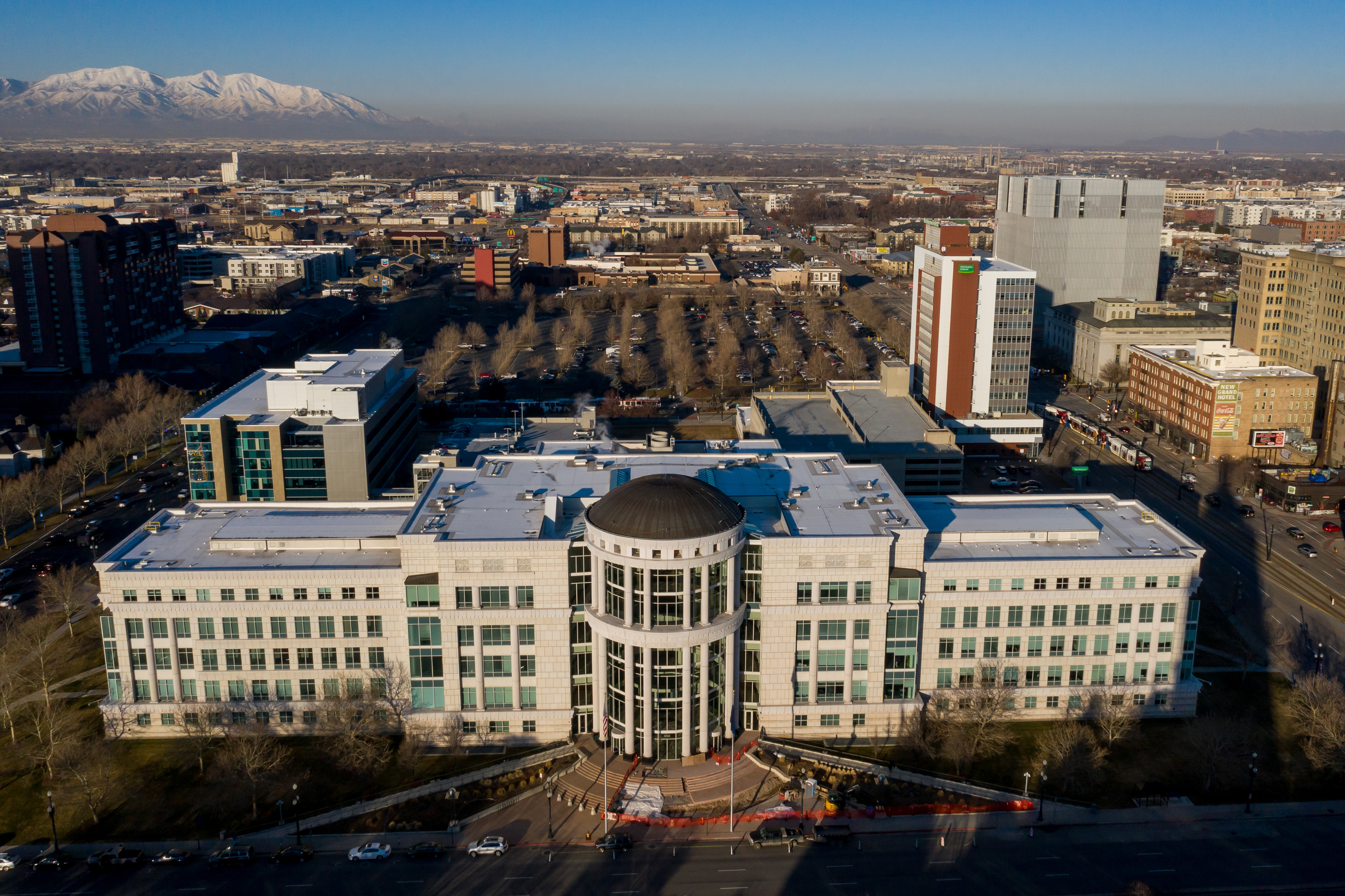 The Scott M. Matheson Courthouse in Salt Lake City is pictured on Wednesday, Feb. 19, 2020.