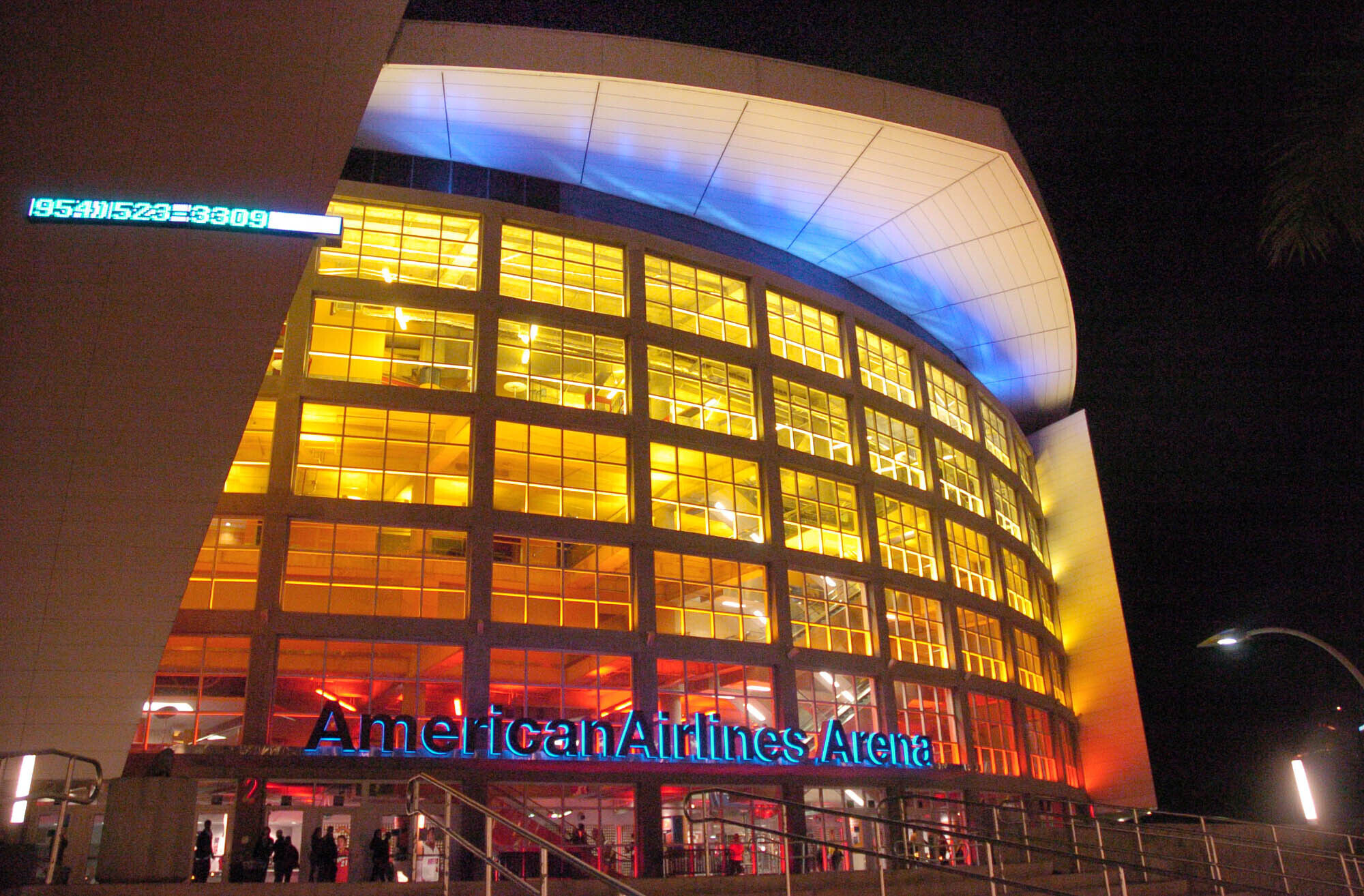 This is March 11, 2005, file photo showing the American Airlines Arena in Miami.