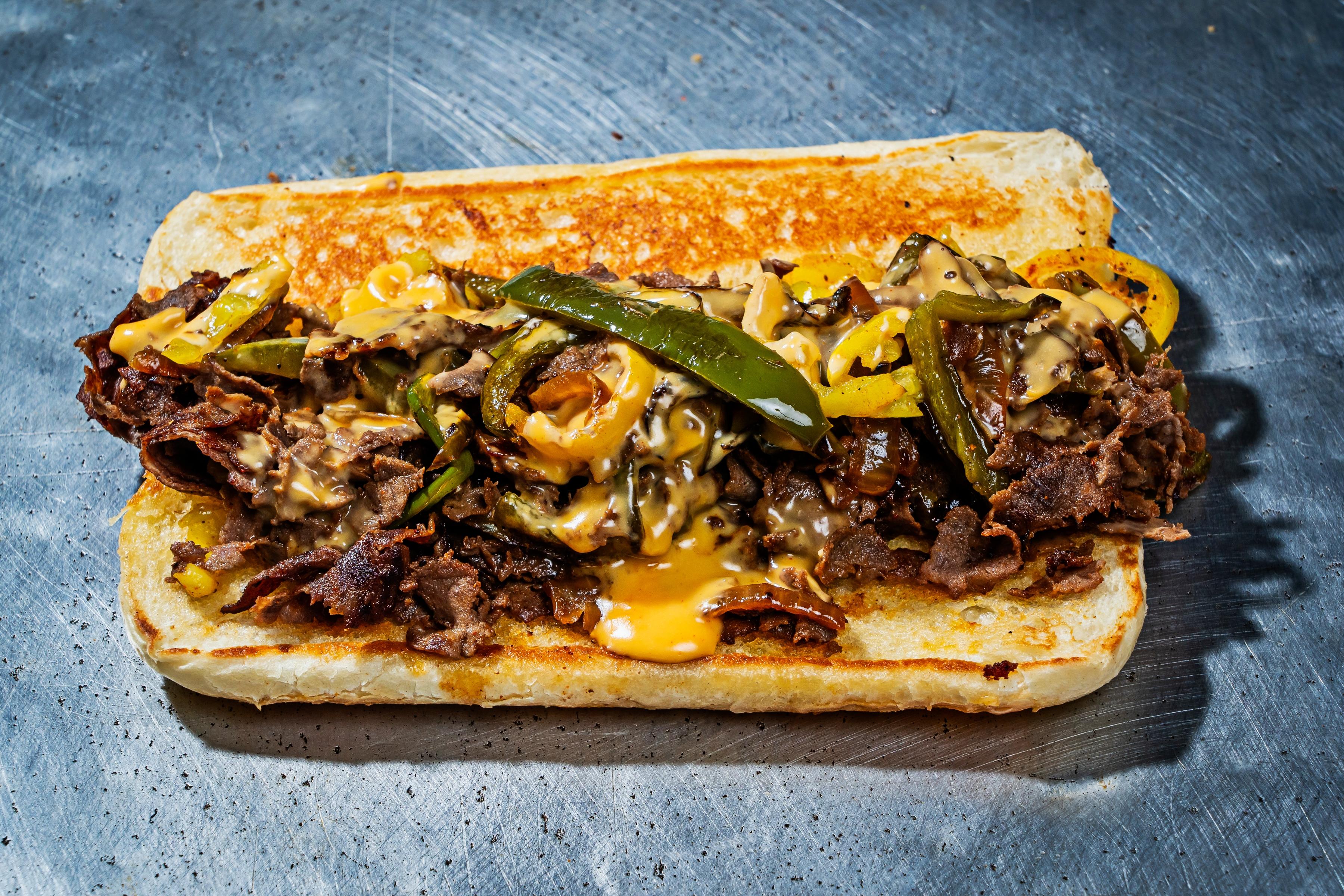 A pepper steak sandwich from Satellite