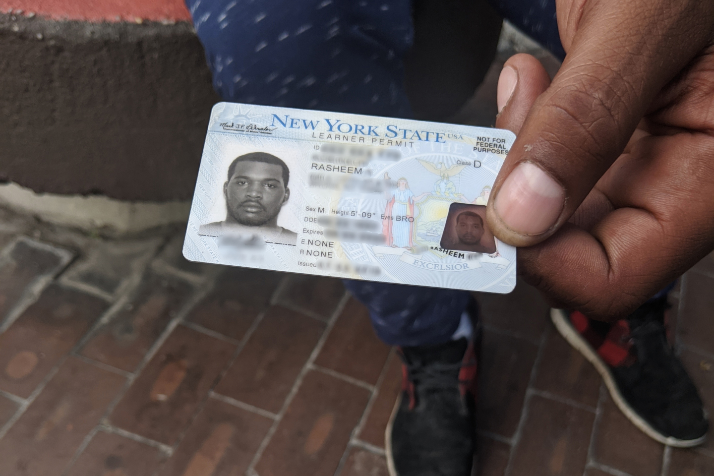 Rasheem lost access to his ID while staying on Rikers Island after a family member who was holding it passed away.