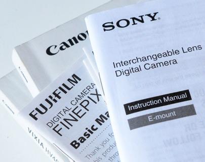 camera manuals