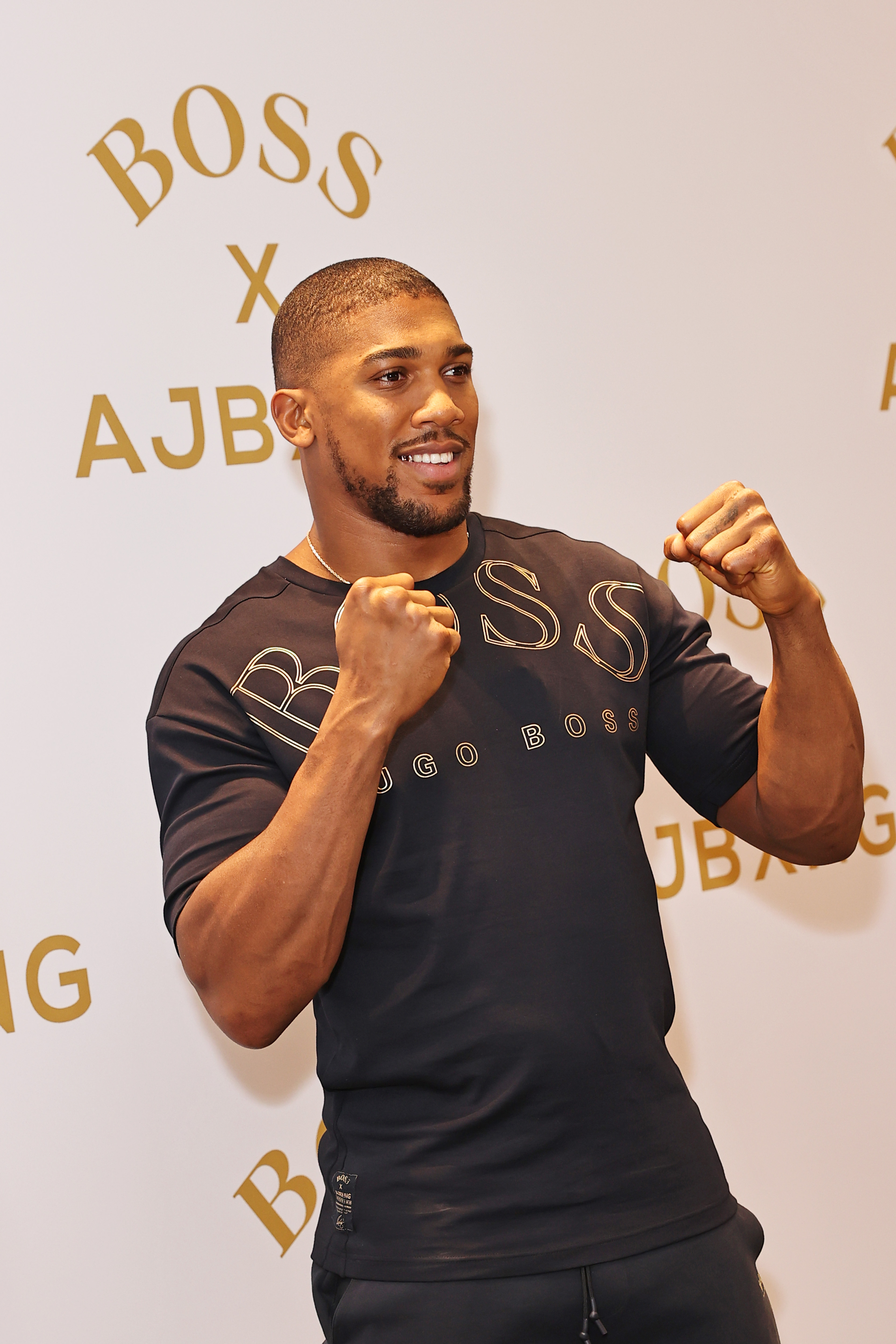 BOSS Capsule Collection Photocall With Anthony Joshua