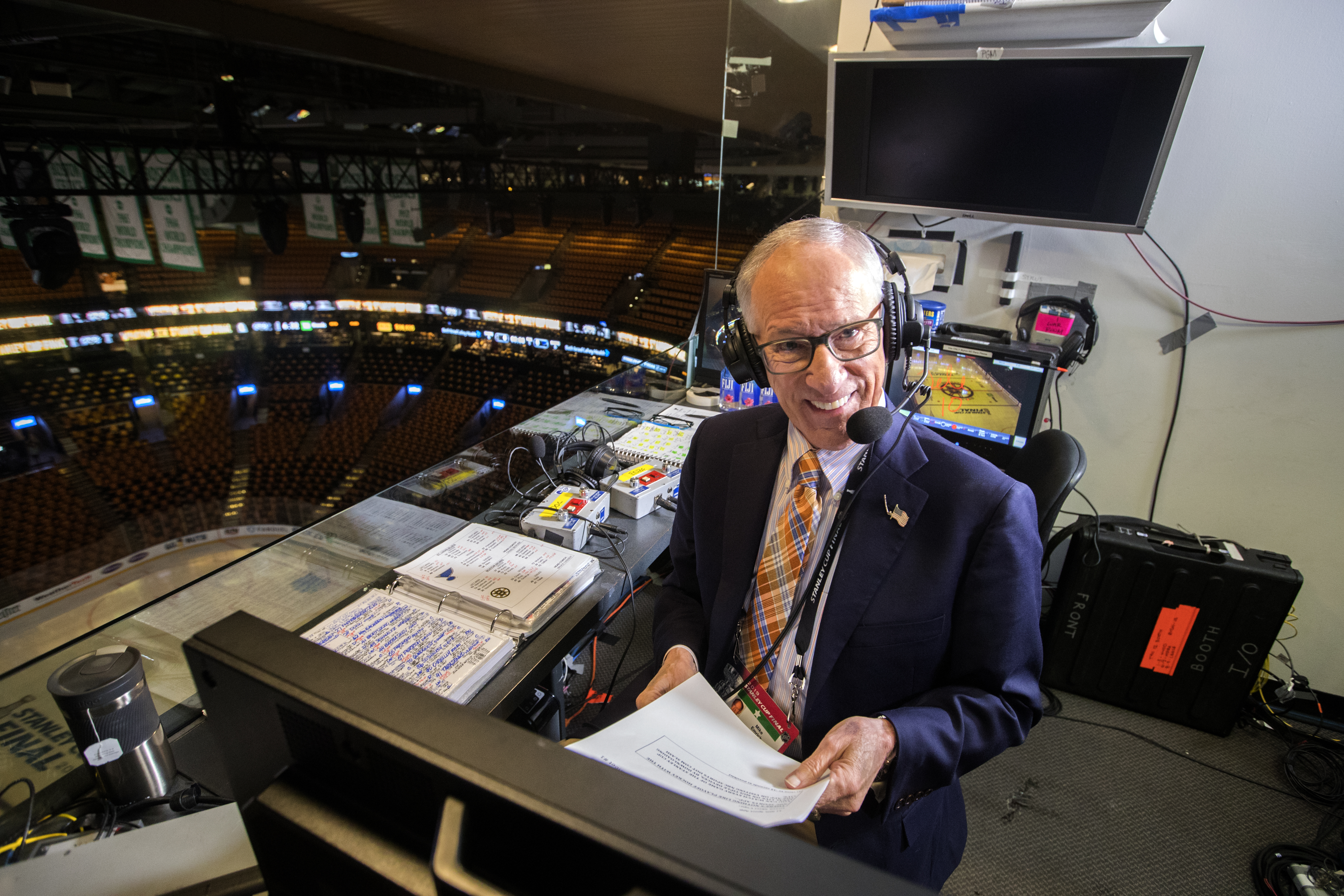 NBC Hockey Play-By-Play Announcer Mike Emrick