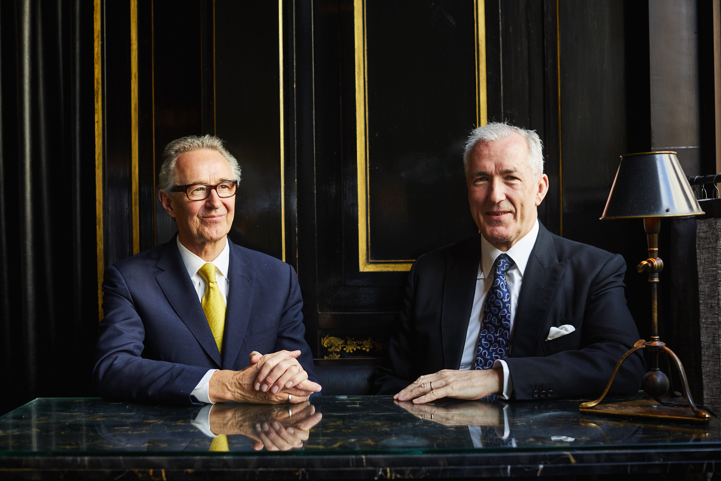 Chris Corbin and Jeremy King, Corbin and King, owners of the Wolseley, Delaunay, Brasserie Zedel, and more