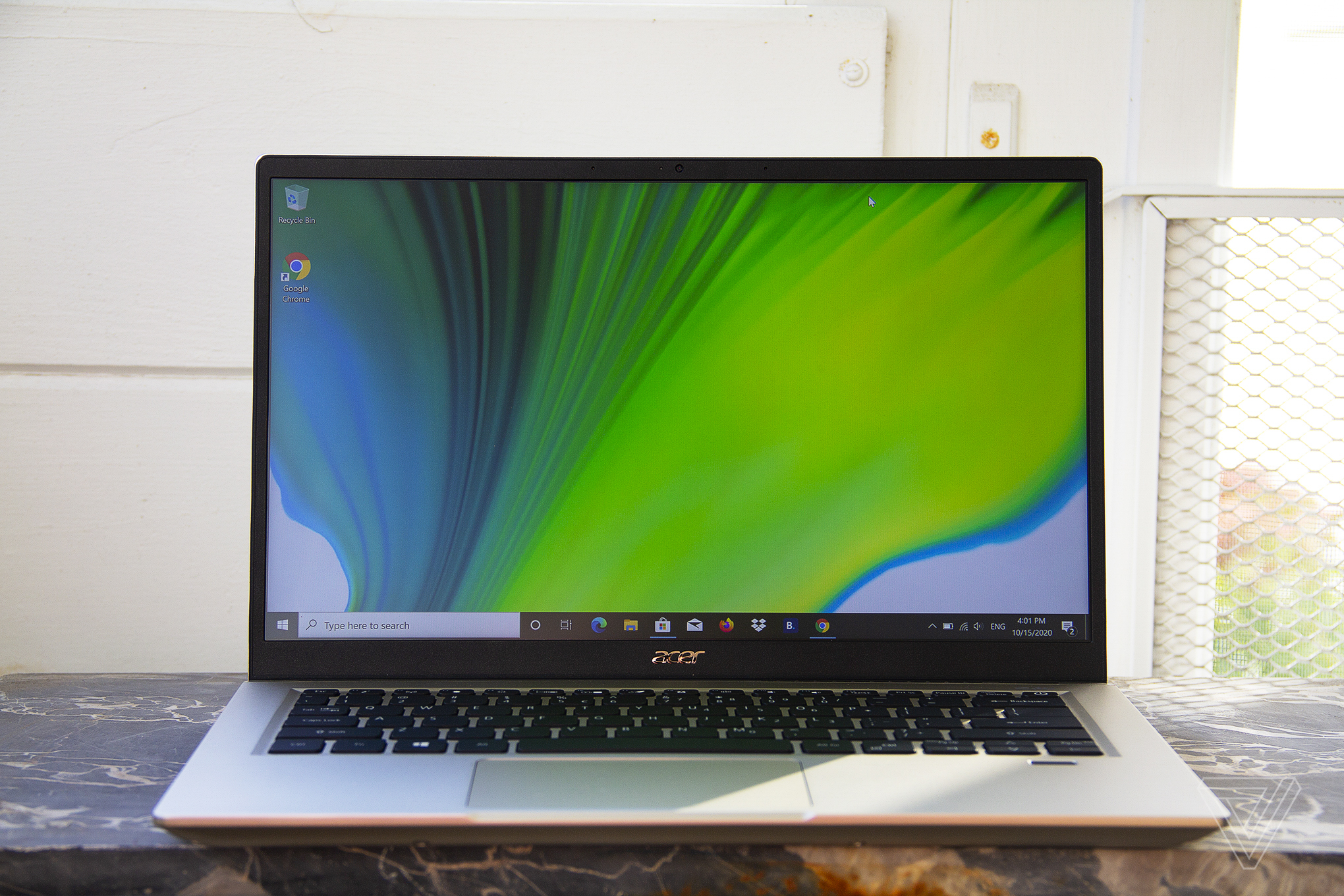 Acer Swift 3X from the front.