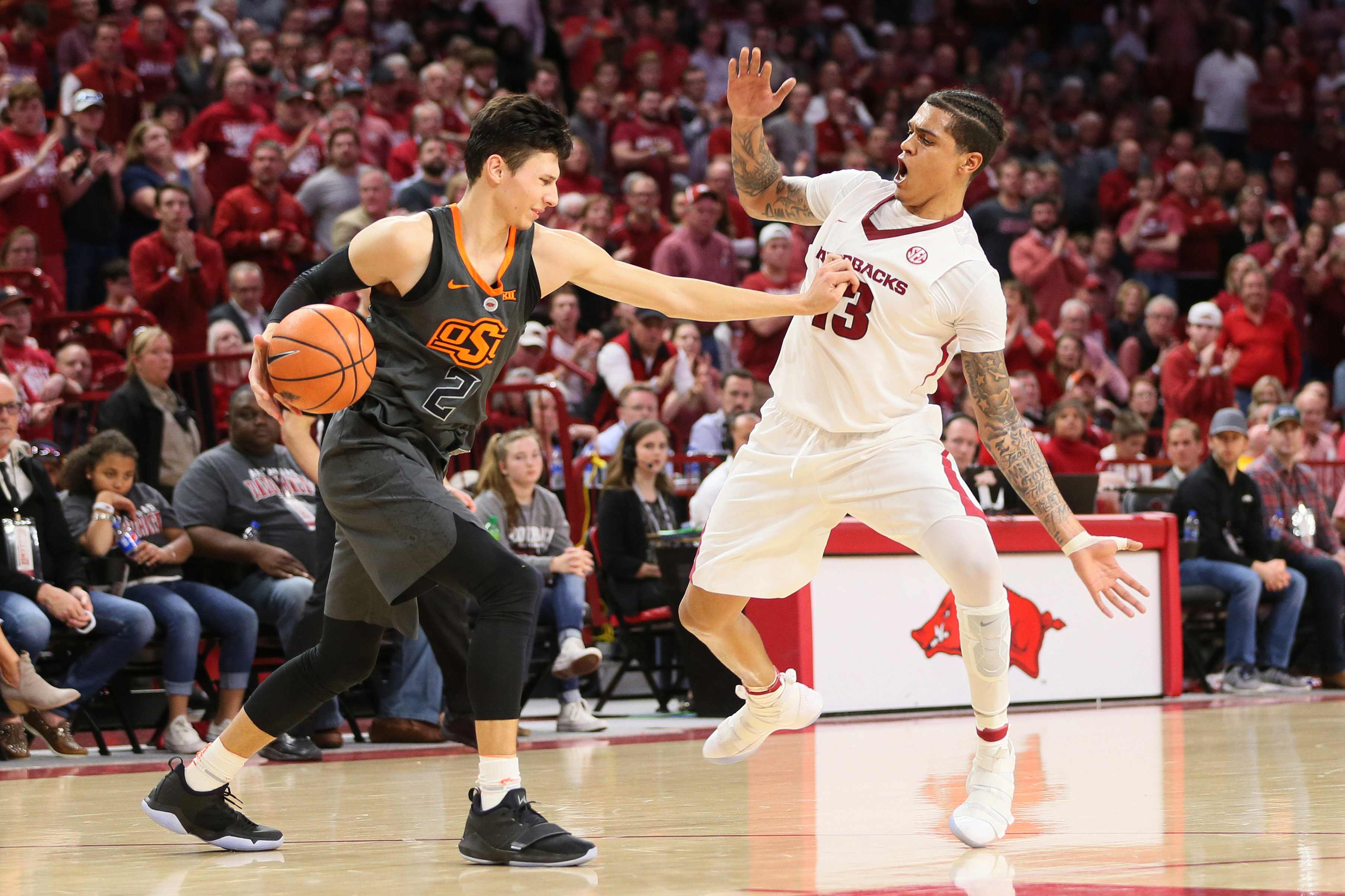 NCAA Basketball: Oklahoma State at Arkansas