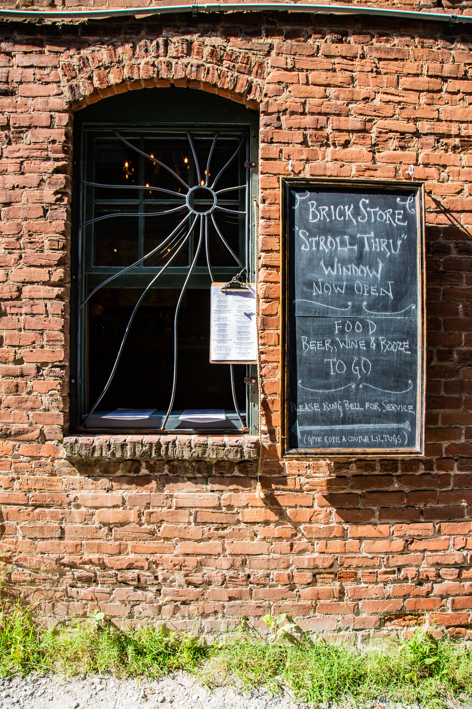 The to-go window at Brick Store Pub in Decatur