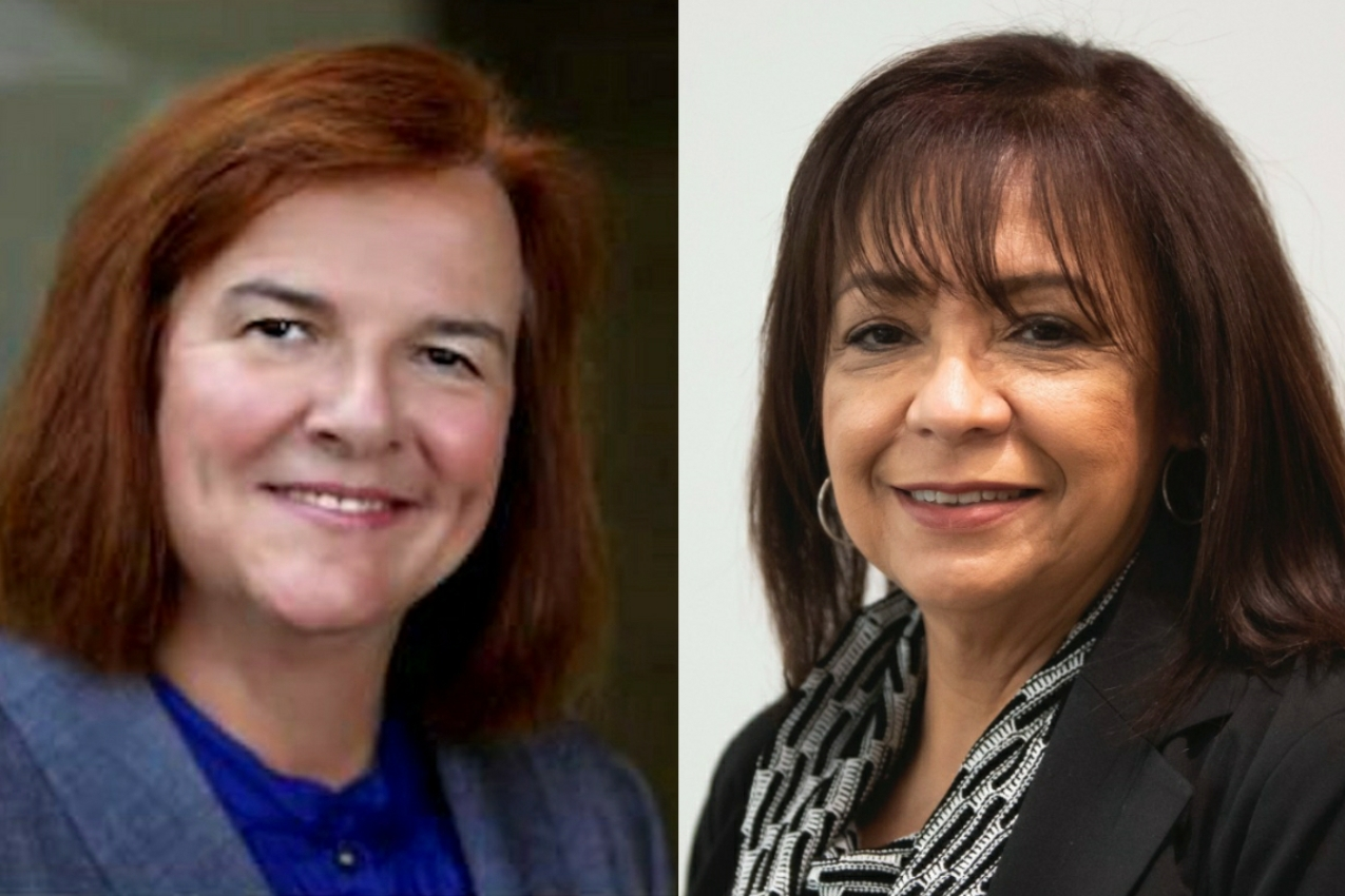 Republican Dr. Barbara Bellar, left, and Democratic state Sen. Iris Martinez, right.