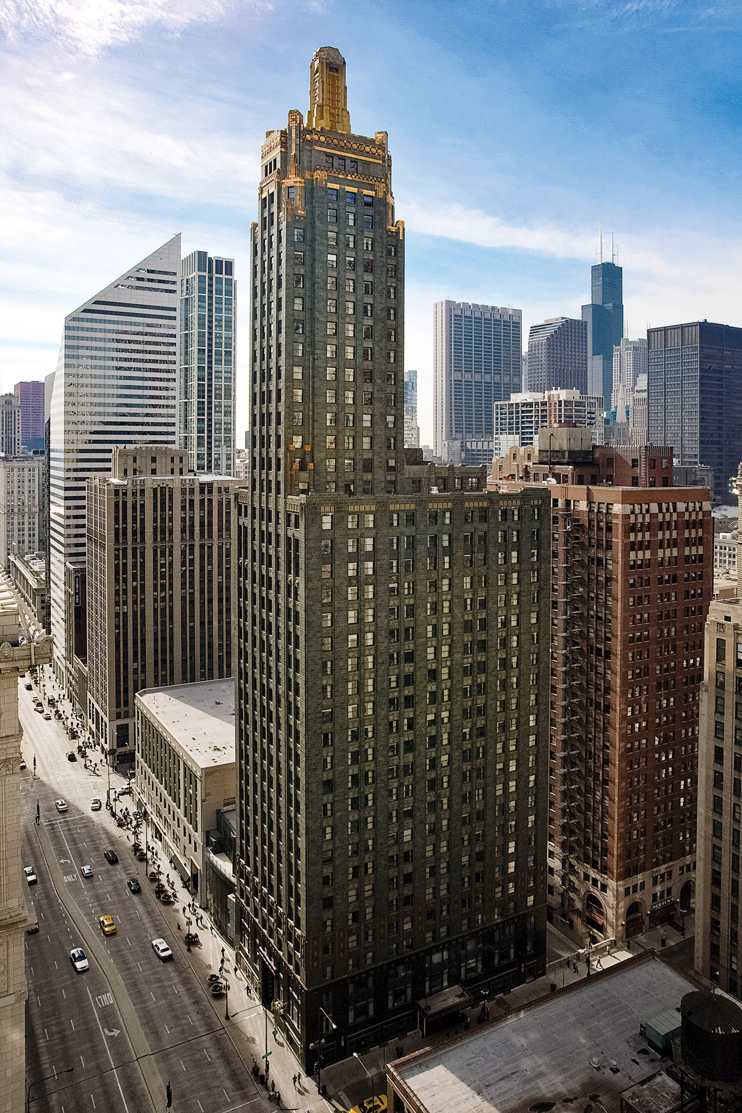 The Carbide & Carbon Building at 230 N. Michigan Ave.