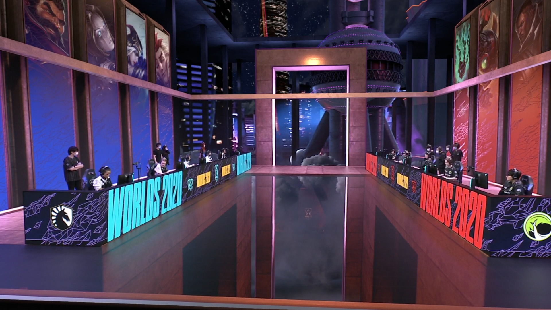 The Worlds 2020 League of Legends stage
