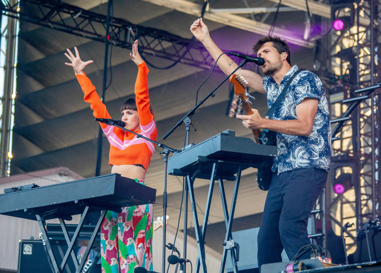 Oh Wonder on stage at 51st Festival d'ete de Quebec
