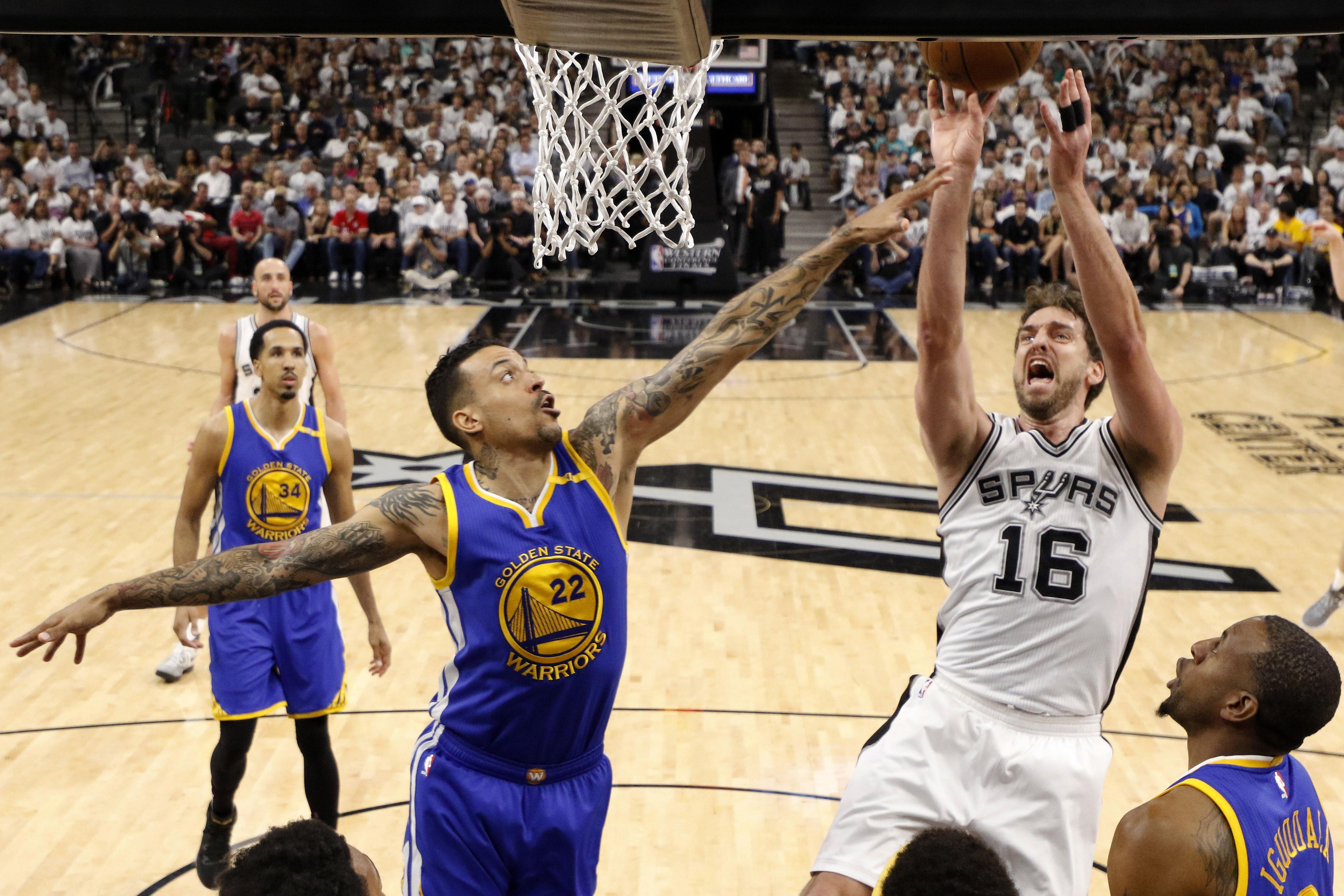 NBA:季后赛金州勇士对阵圣安东尼奥马刺