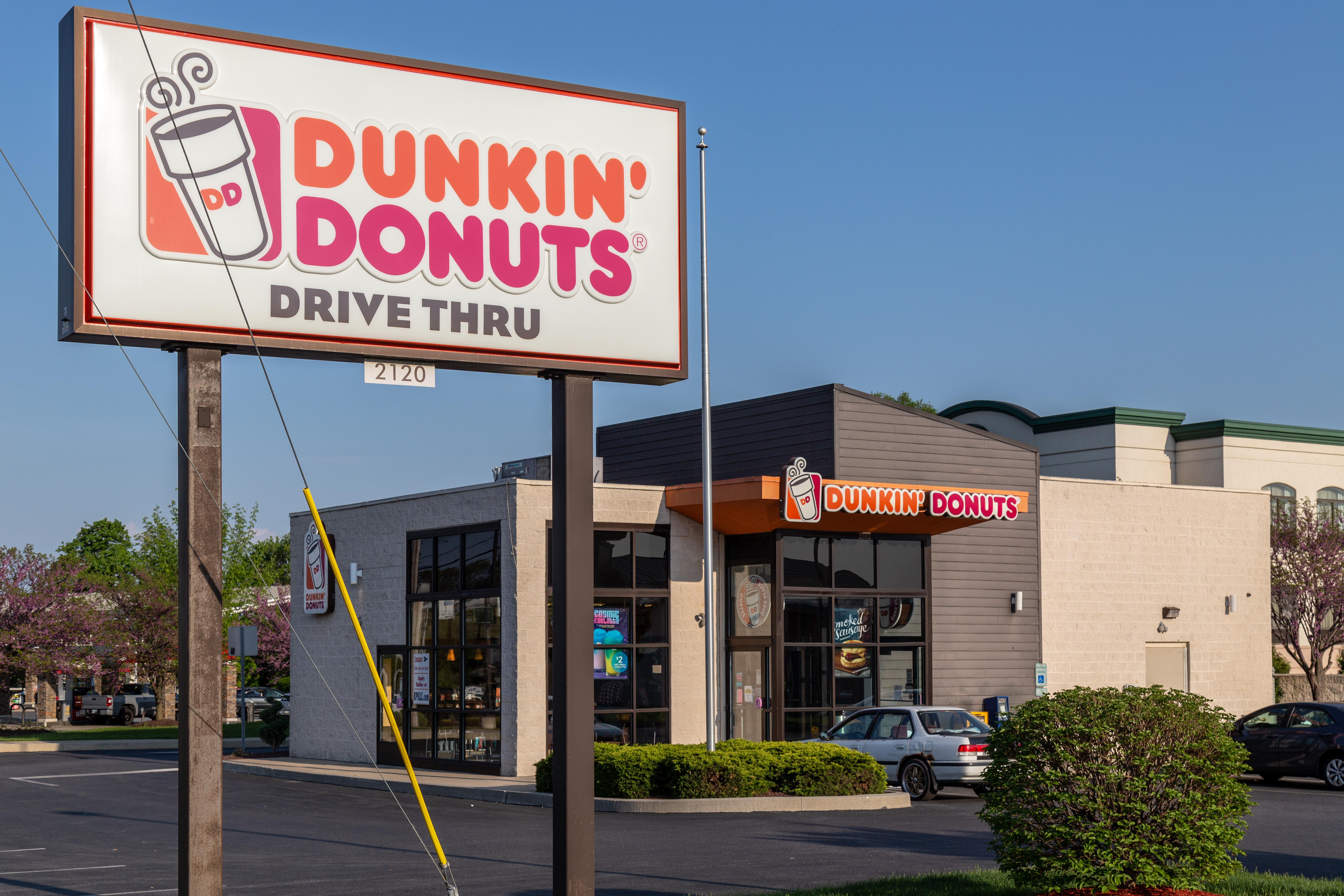 A Dunkin' Donuts store exterior.