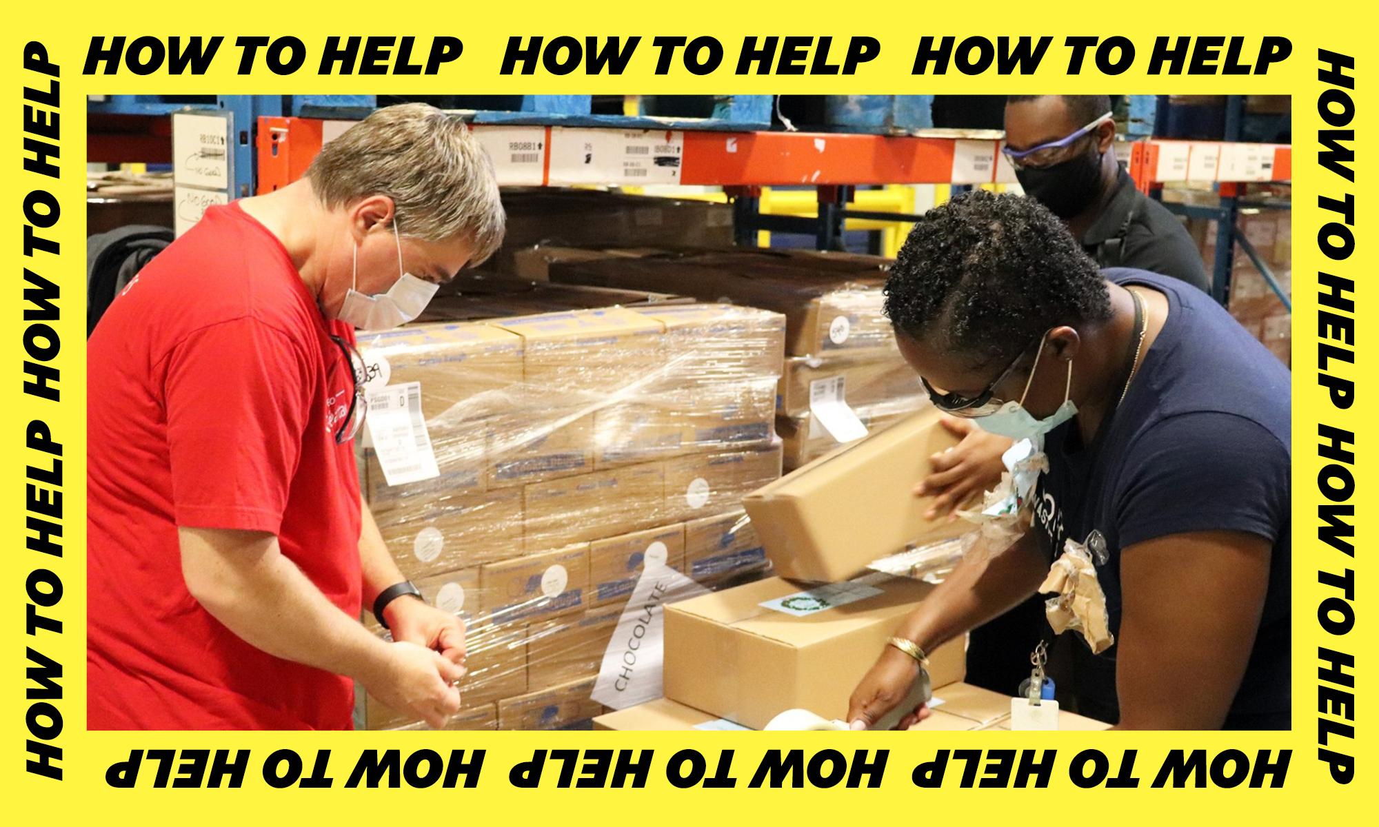 志愿者处理盒子
